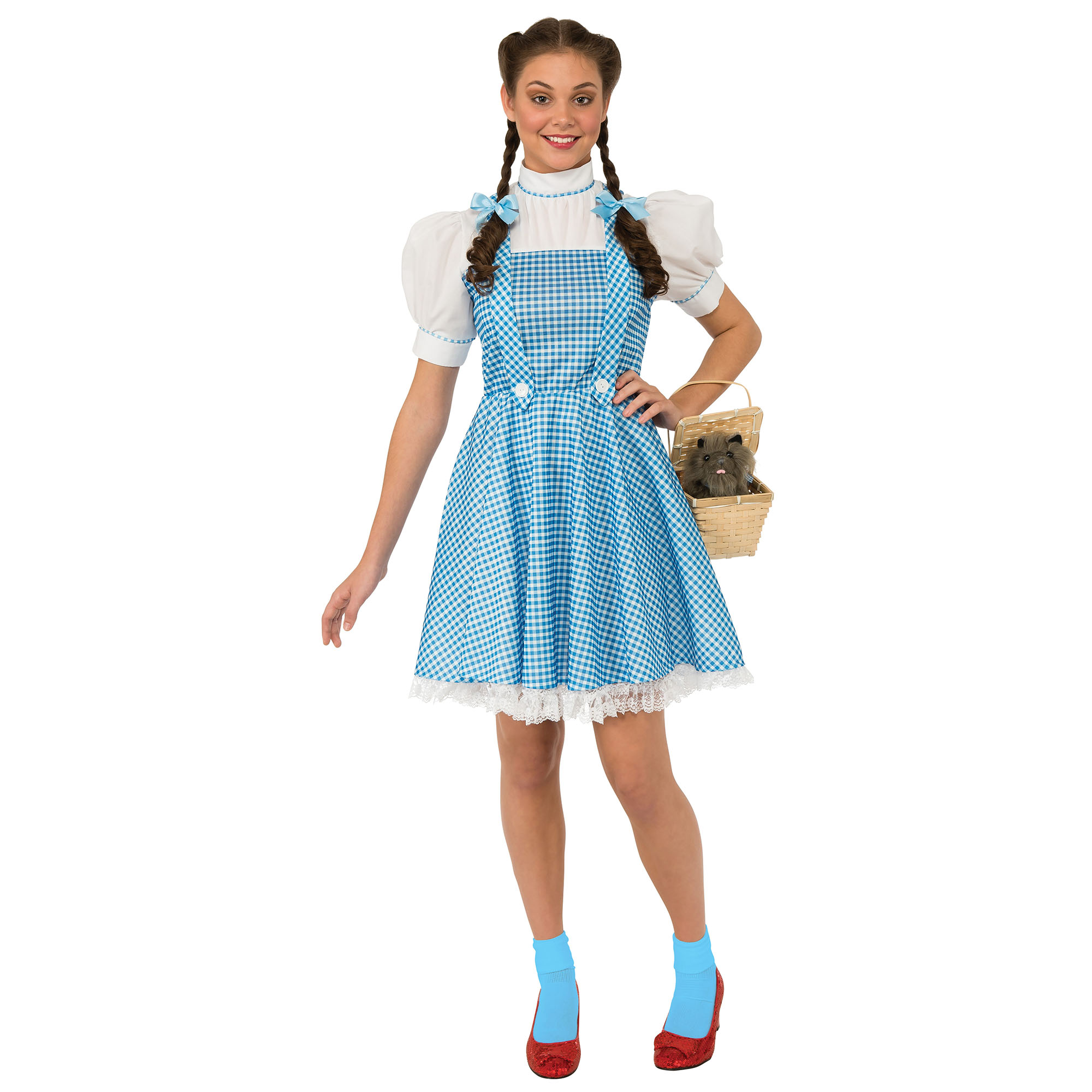 The Wizard Of Oz Womens/Ladies Dorothy Costume (L) (White/Blue)