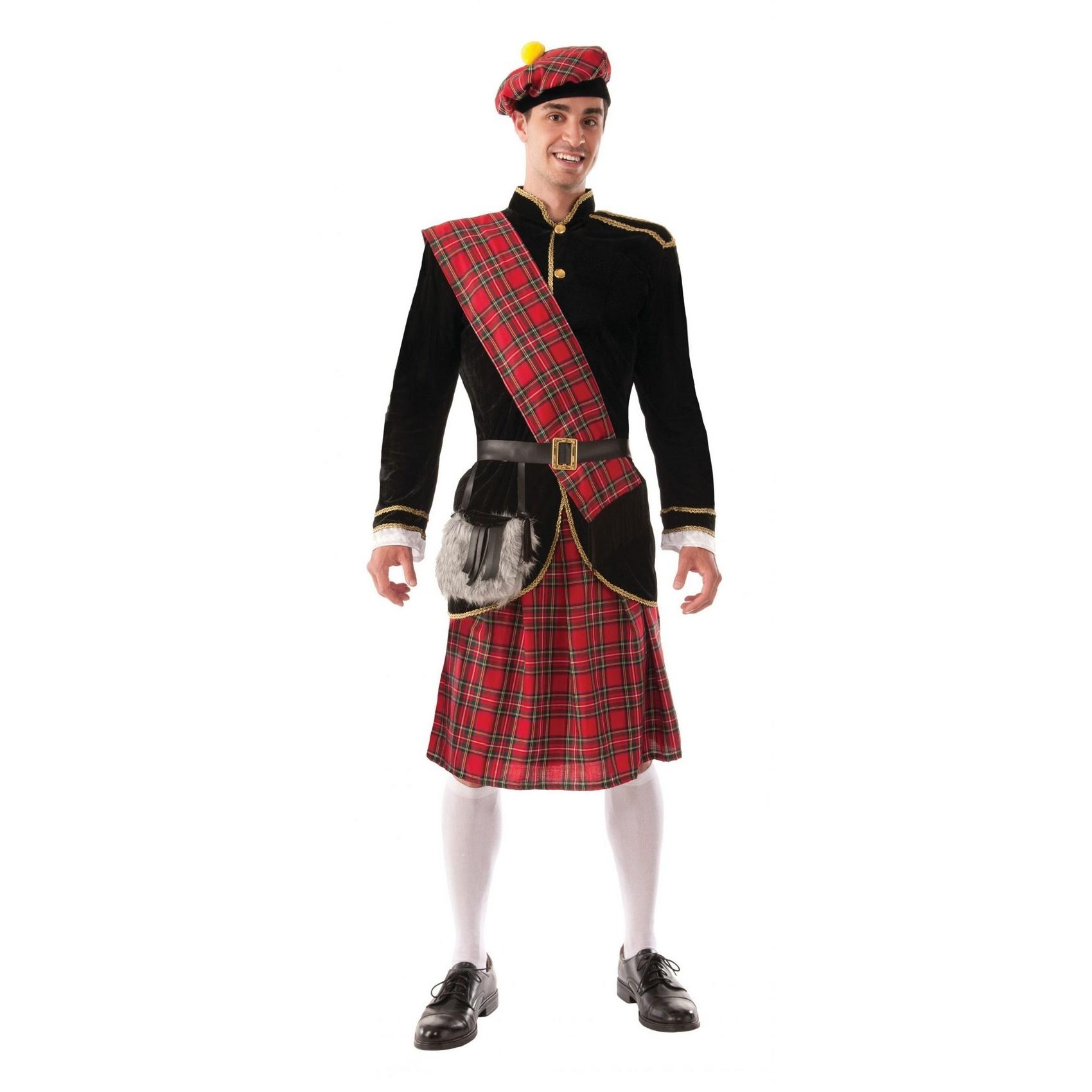 Bristol Novelty Mens Scotsman Costume (One Size) (Red/Black)