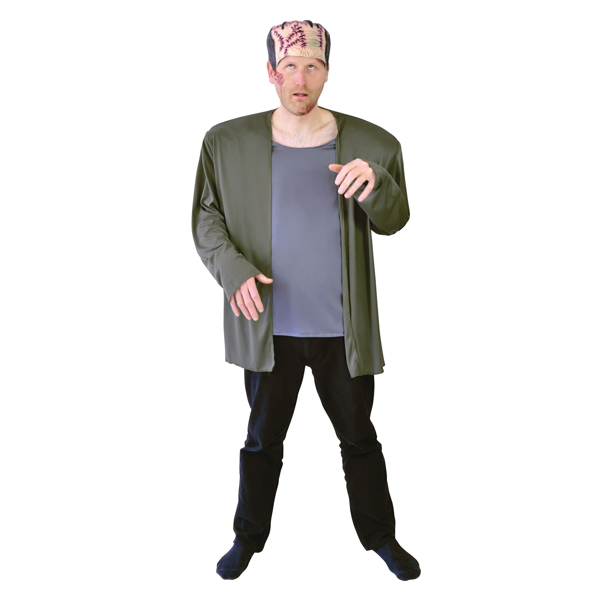 Bristol Novelty Mens Frank Coat And Headpiece (One Size) (Multicoloured)