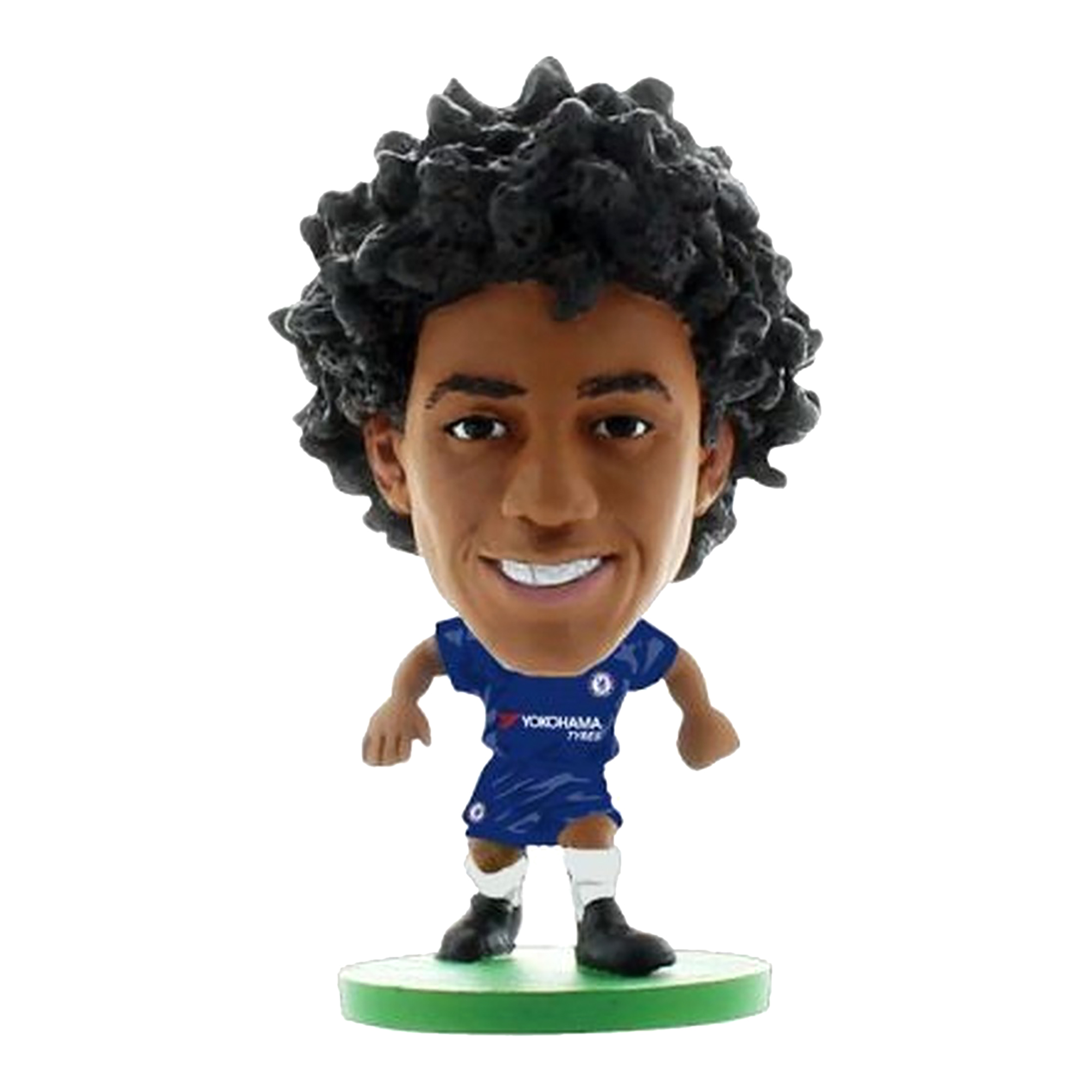 more photos 108b4 71907 Details about Chelsea FC Soccerstarz Willian Borges da Silva Home Kit  (BS1621)