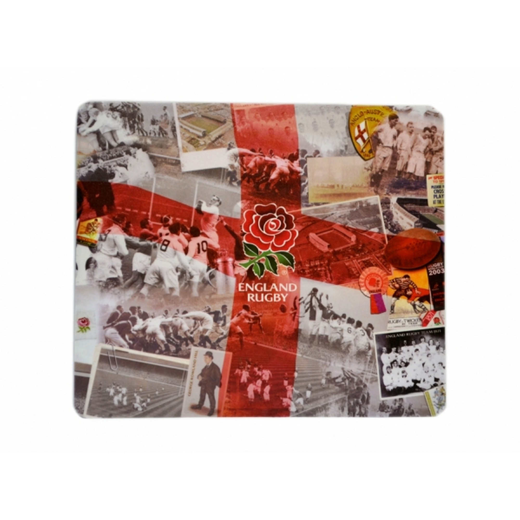 England RFU Official Rugby Retro Computer Mouse Mat (One Size) (Multicoloured)