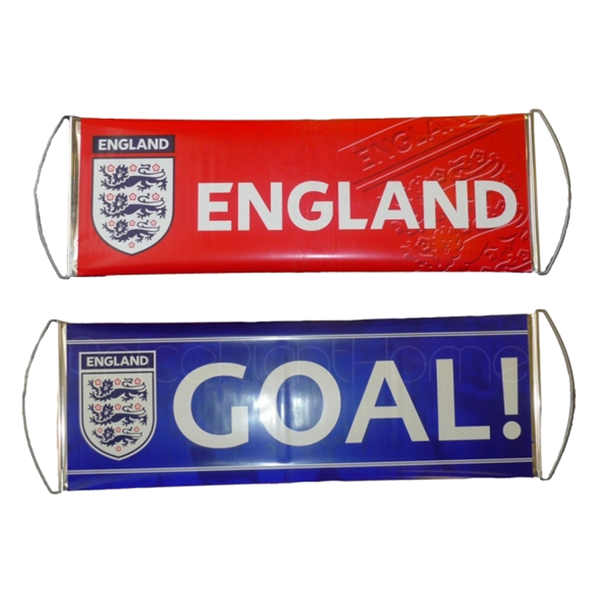 England Official Fanbana Football Banner (One Size) (Red/Blue)