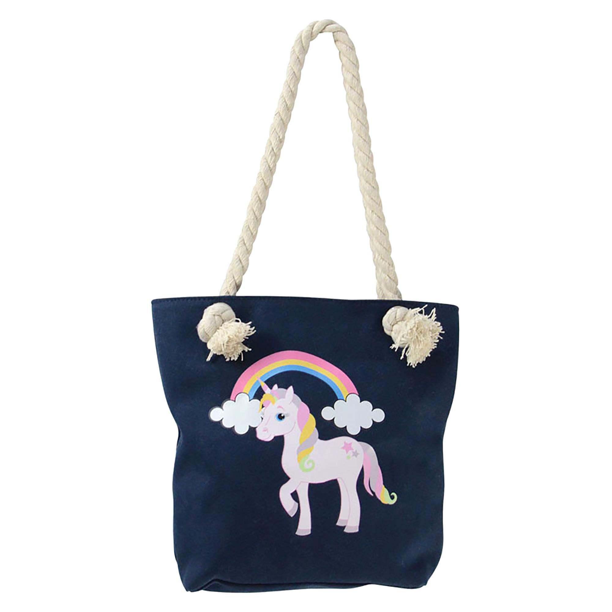 Little Rider Childrens/Kids Unicorn Tote Bag (One Size) (Navy)