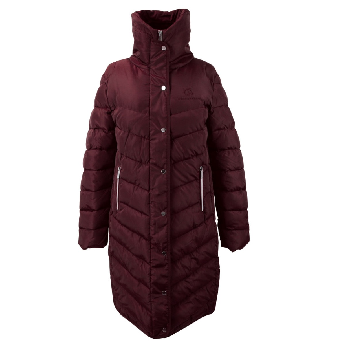 Coldstream Womens/Ladies Kimmerston Long Quilted Coat (L) (Windsor Wine)