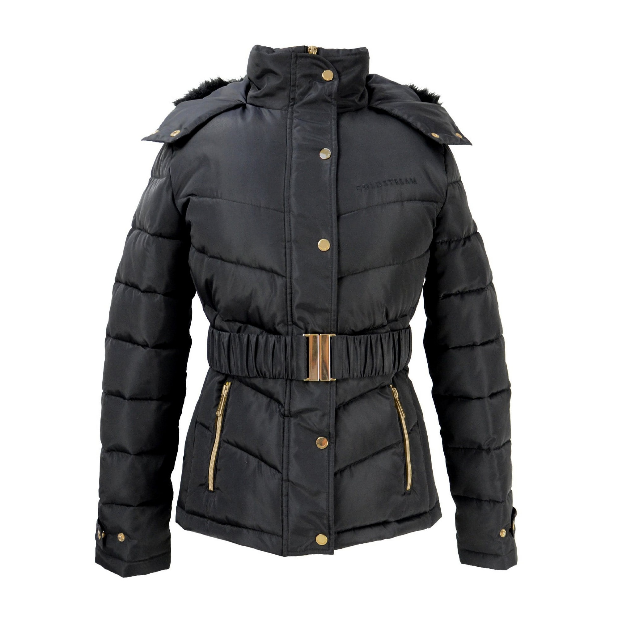 Coldstream Womens/Ladies Cornhill Quilted Coat (S) (Black)