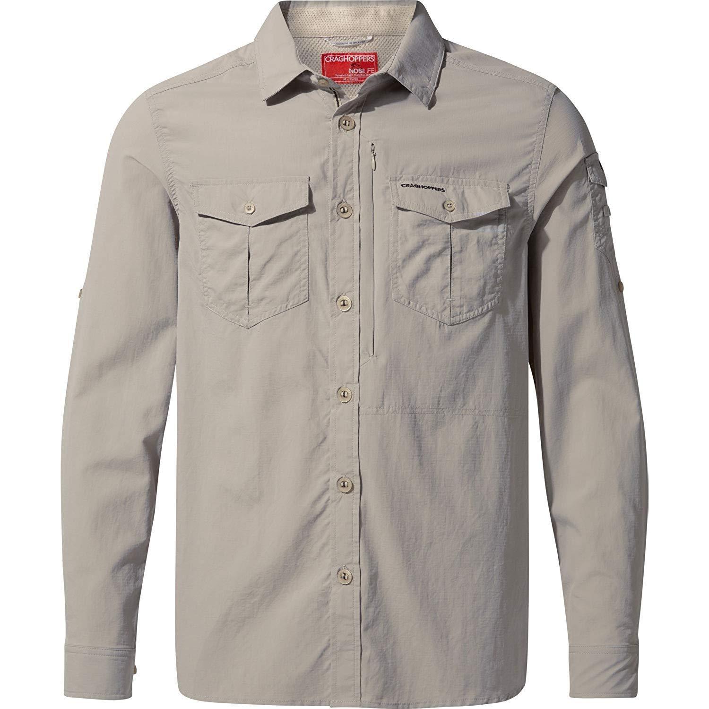 Craghoppers Mens NosiLife Adventure II Long Sleeved Shirt (XL) (Parchment)