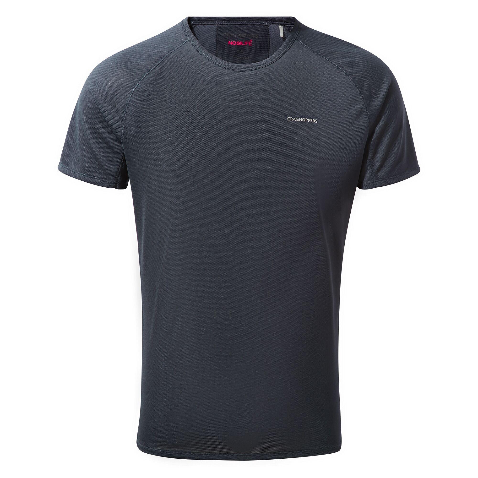Craghoppers Mens NosiLife Short Sleeve Baselayer T-Shirt (S) (Steel Blue)