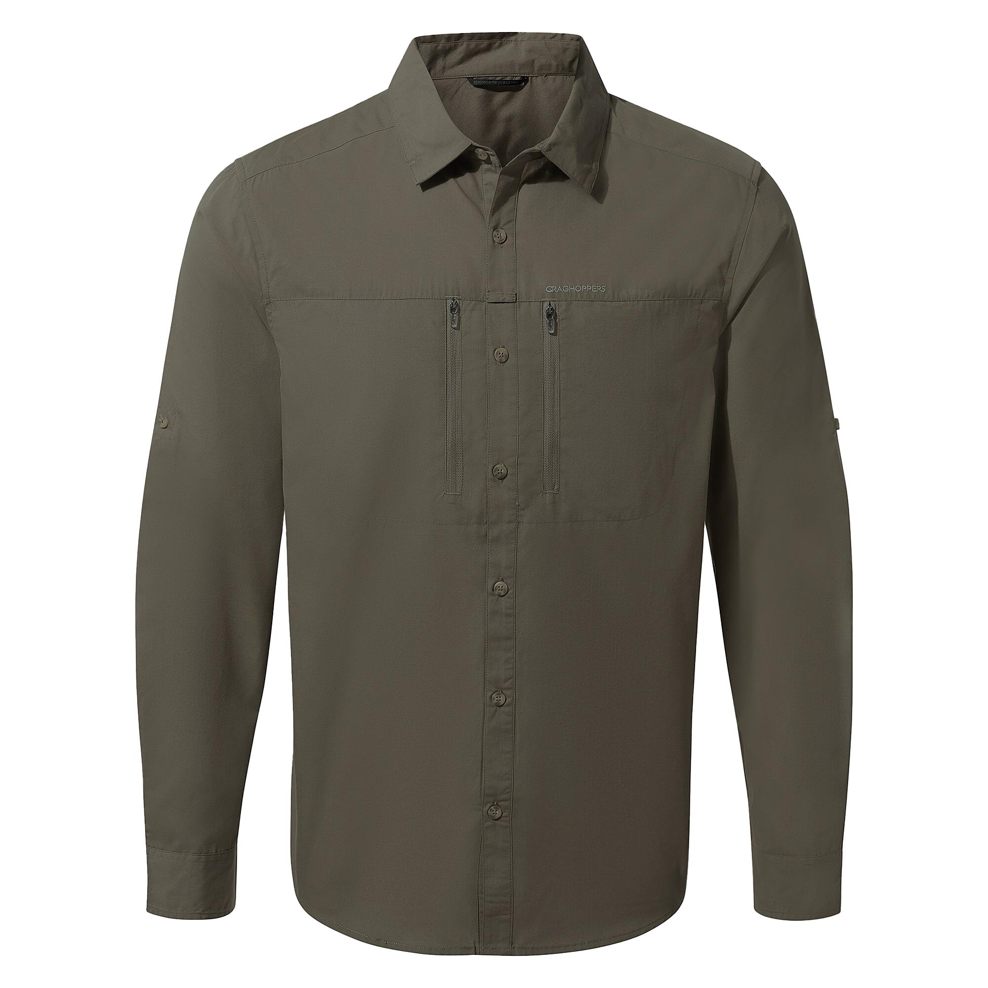 Craghoppers Mens Kiwi Boulder Long Sleeved Shirt (XL) (Dark Khaki)