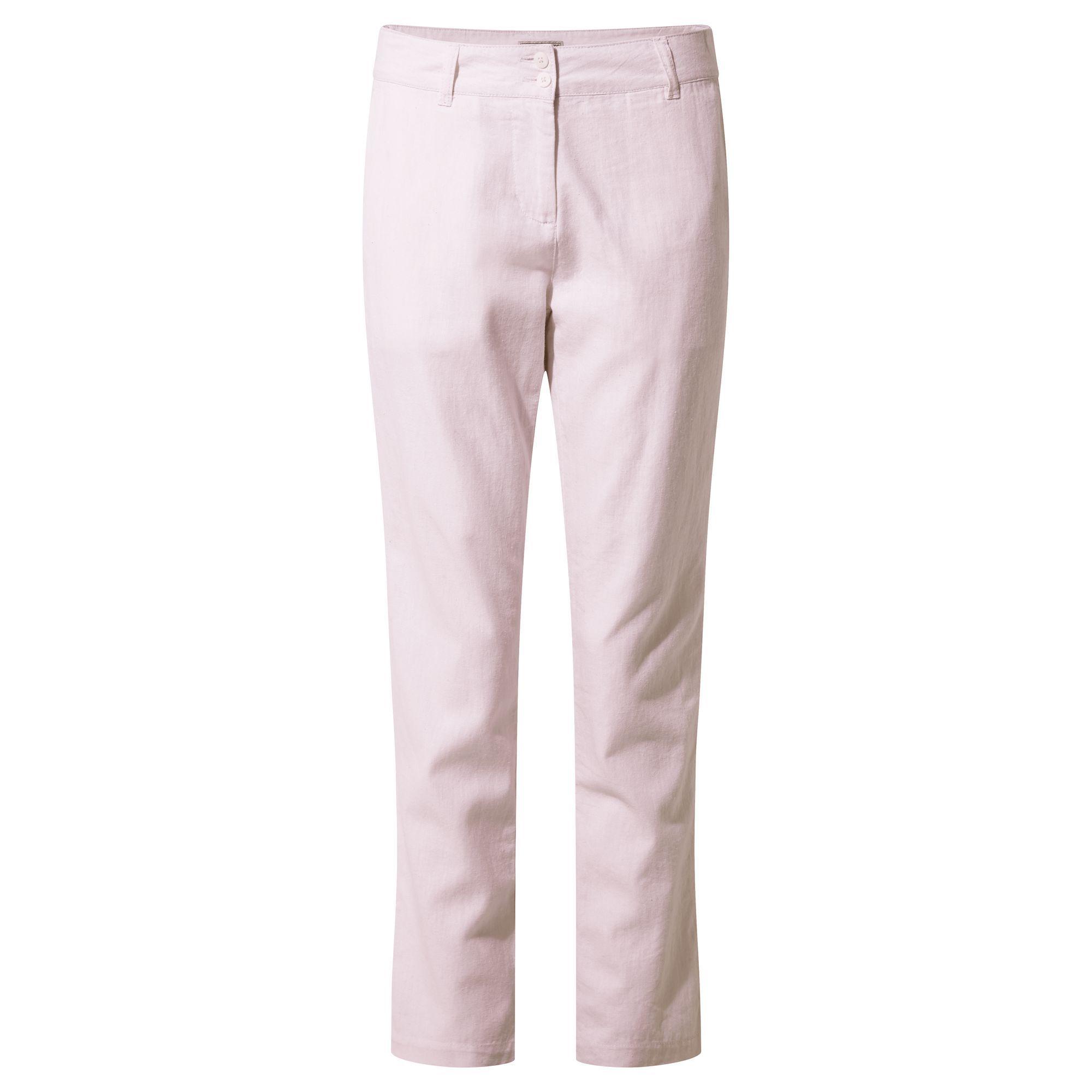 Craghoppers Womens/Ladies Rosa Trousers (16R UK) (Seashell Pink Railroad)