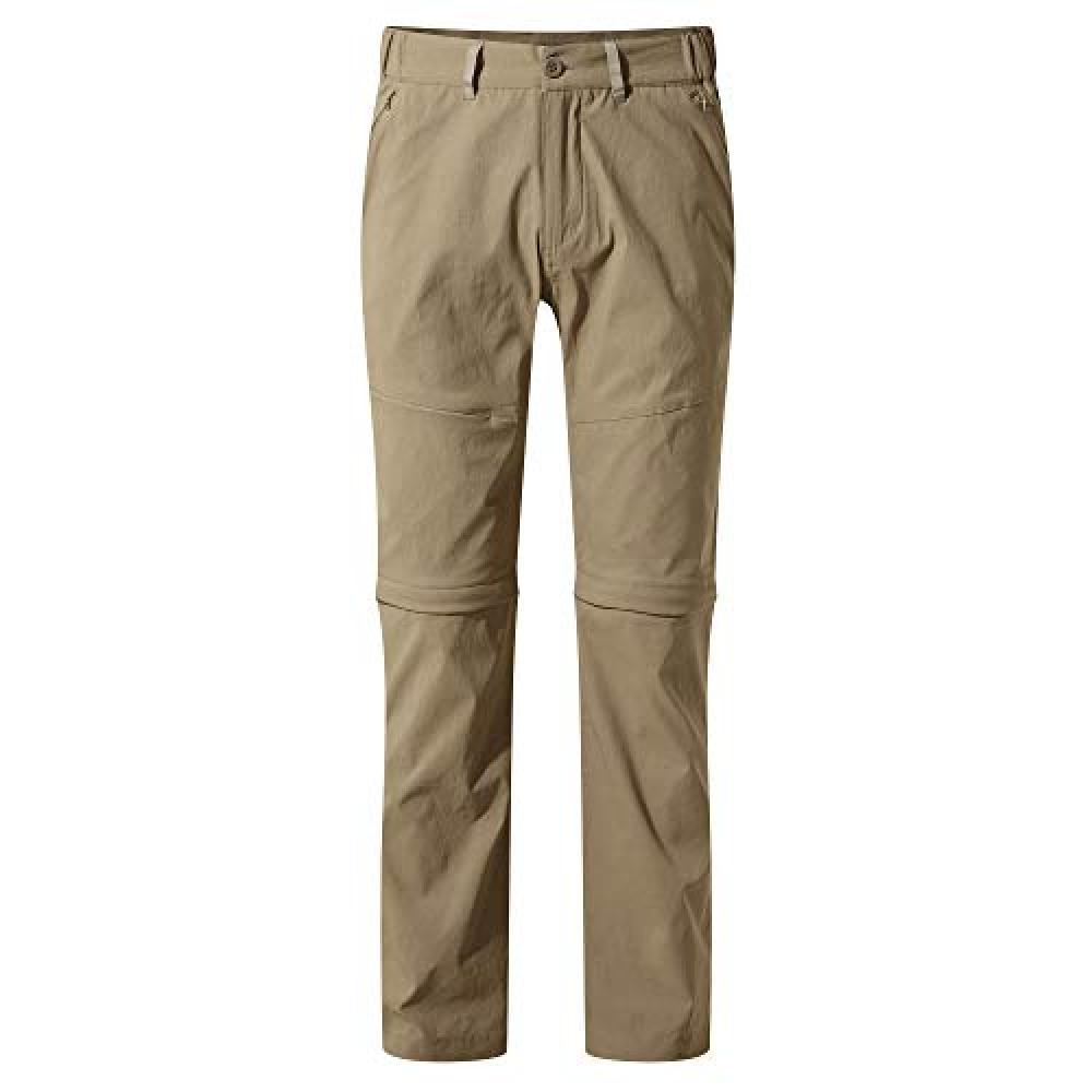 Craghoppers Mens Kiwi Pro II Convertible Trousers (38L) (Pebble)