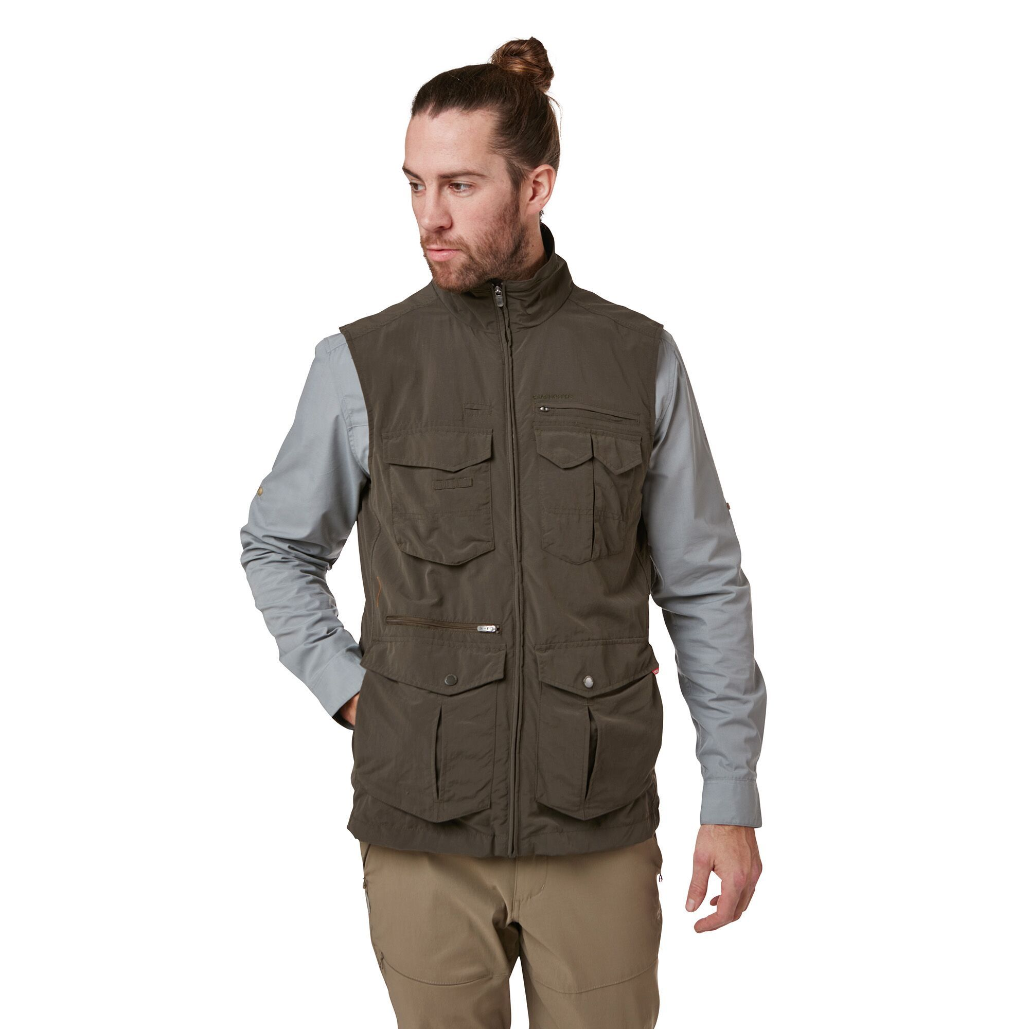 Pebble All Sizes Craghoppers Nosilife Adventure Jacket Body Warmer