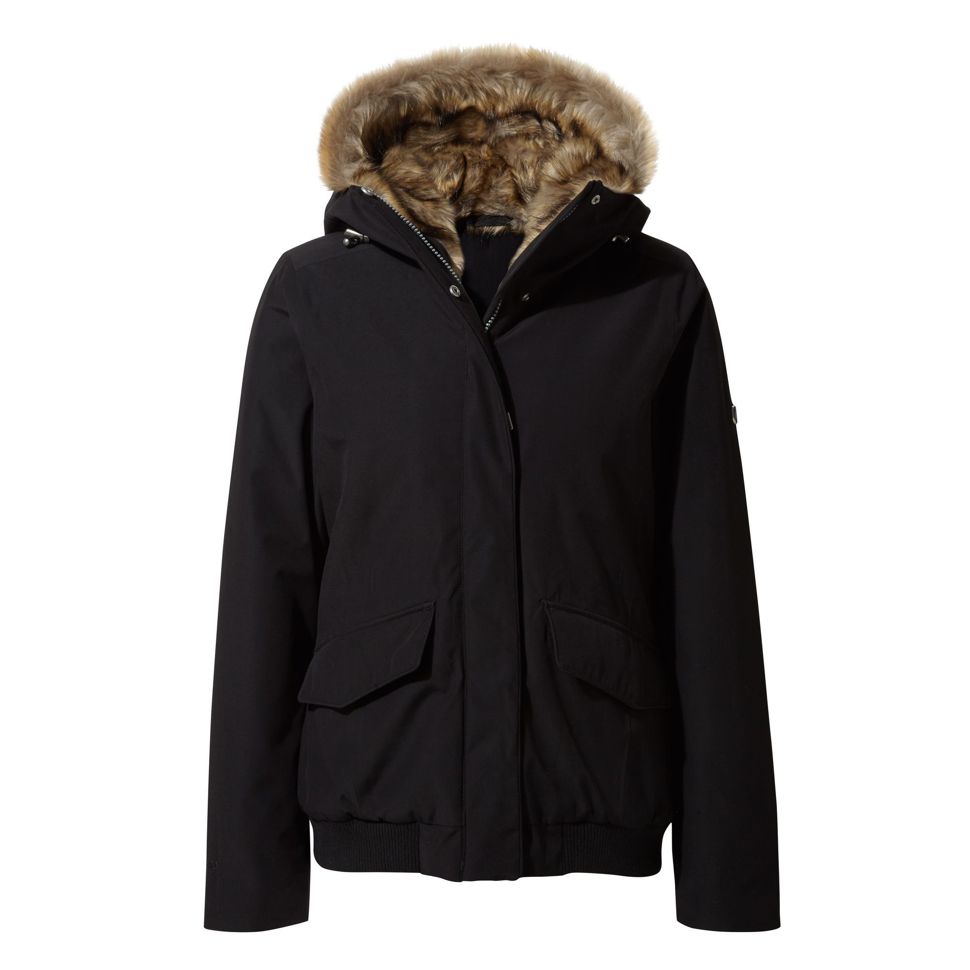 Craghoppers Womens/Ladies Lucerne Faux Fur Bomber Jacket (8 UK) (Black)
