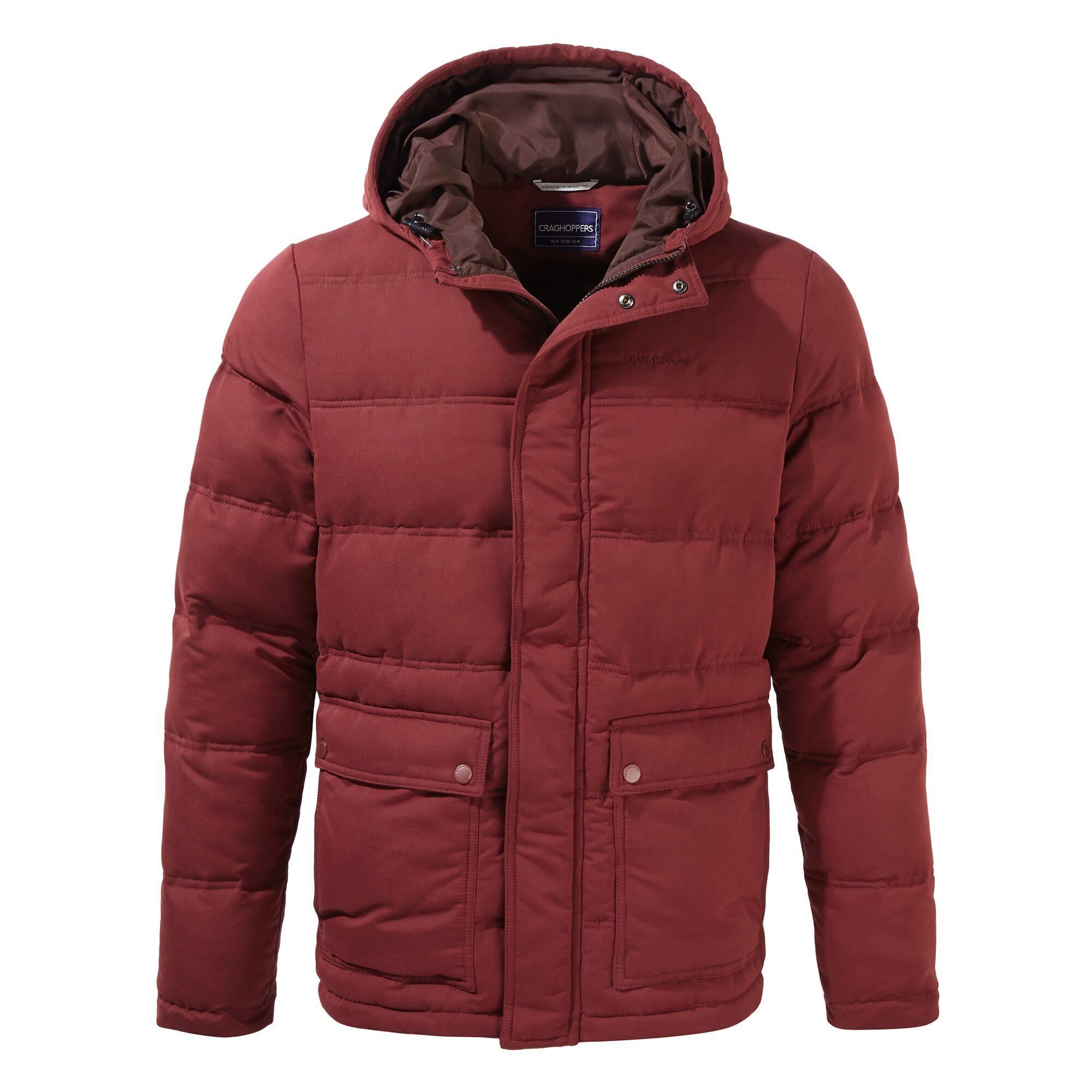Craghoppers Mens Campellio Downlike Hooded Jacket (M) (Loganberry)