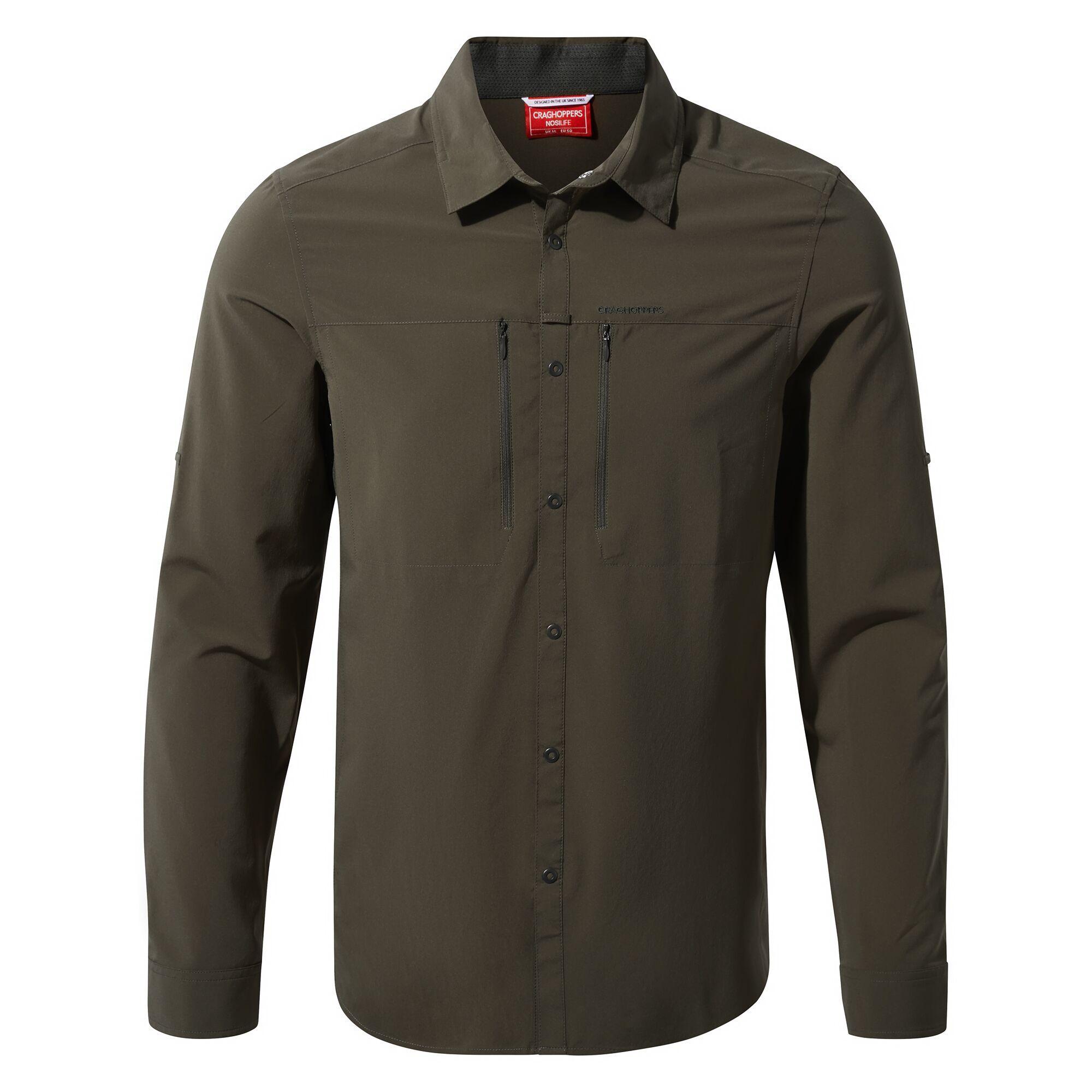 Craghoppers Mens NosiLife Pro IV Long Sleeved Shirt (XXL) (Woodland Green)