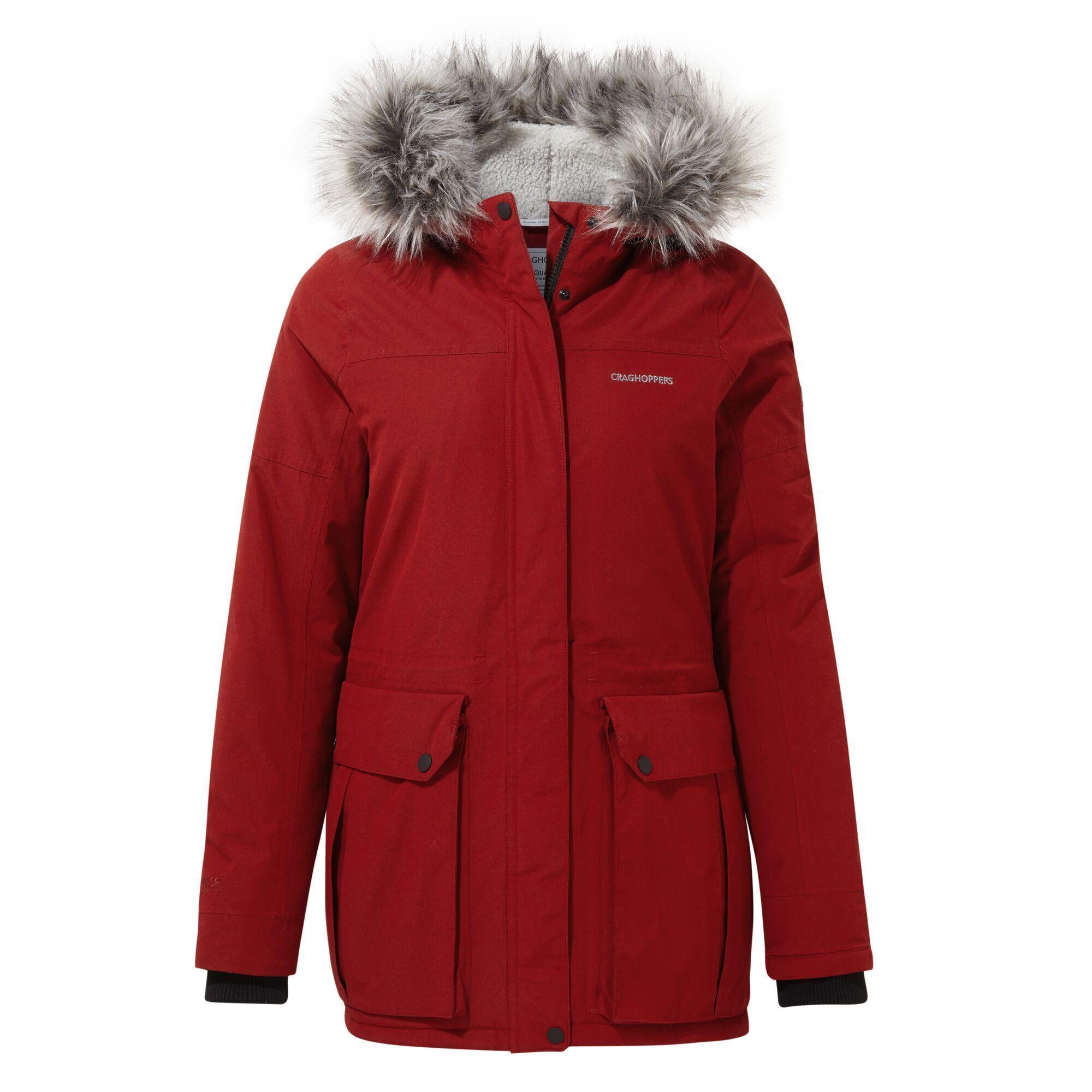 Craghoppers Womens/Ladies Elison Waterproof Jacket (10 UK) (Vintage Red)