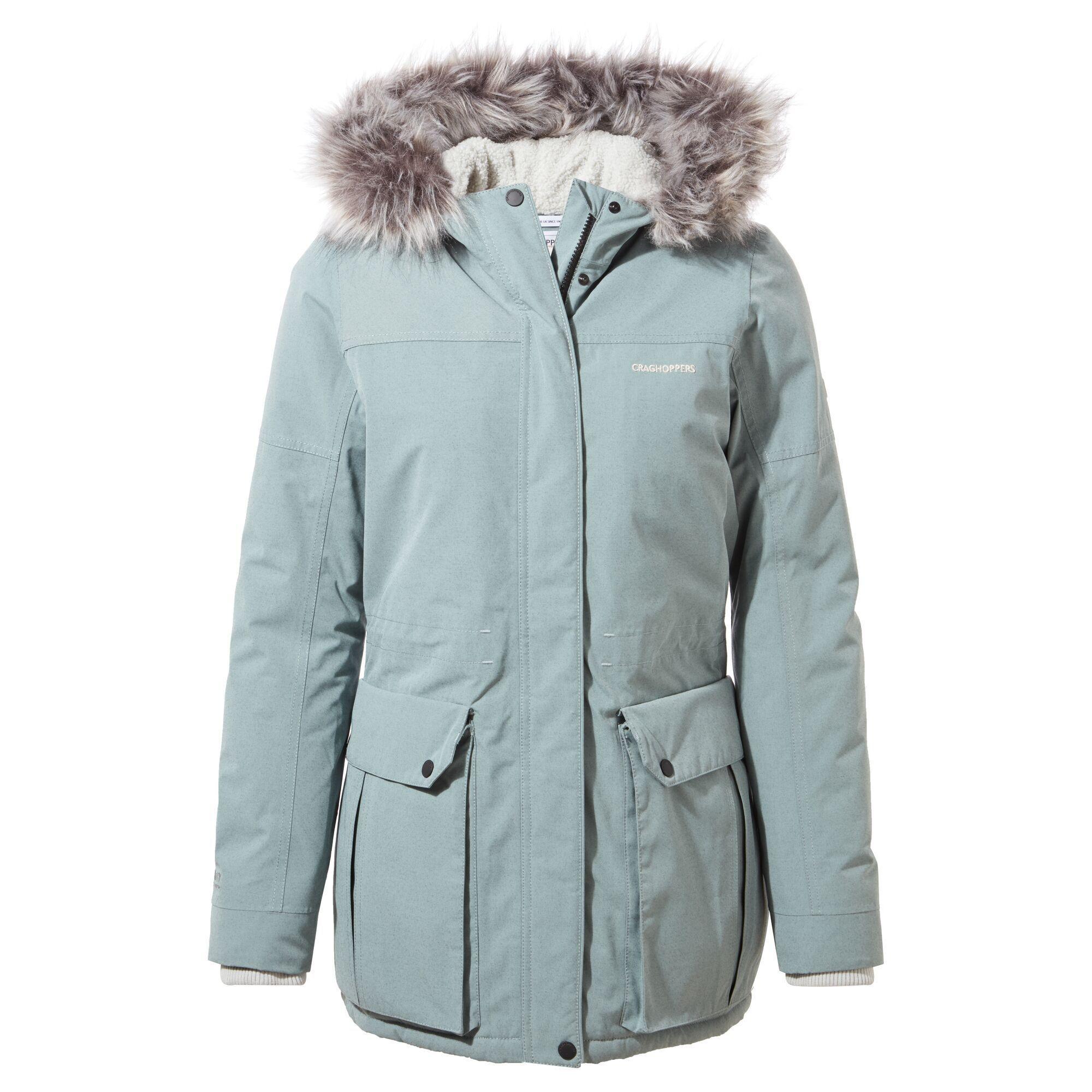 Craghoppers Womens/Ladies Elison Waterproof Jacket (10 UK) (Stormy Sea)