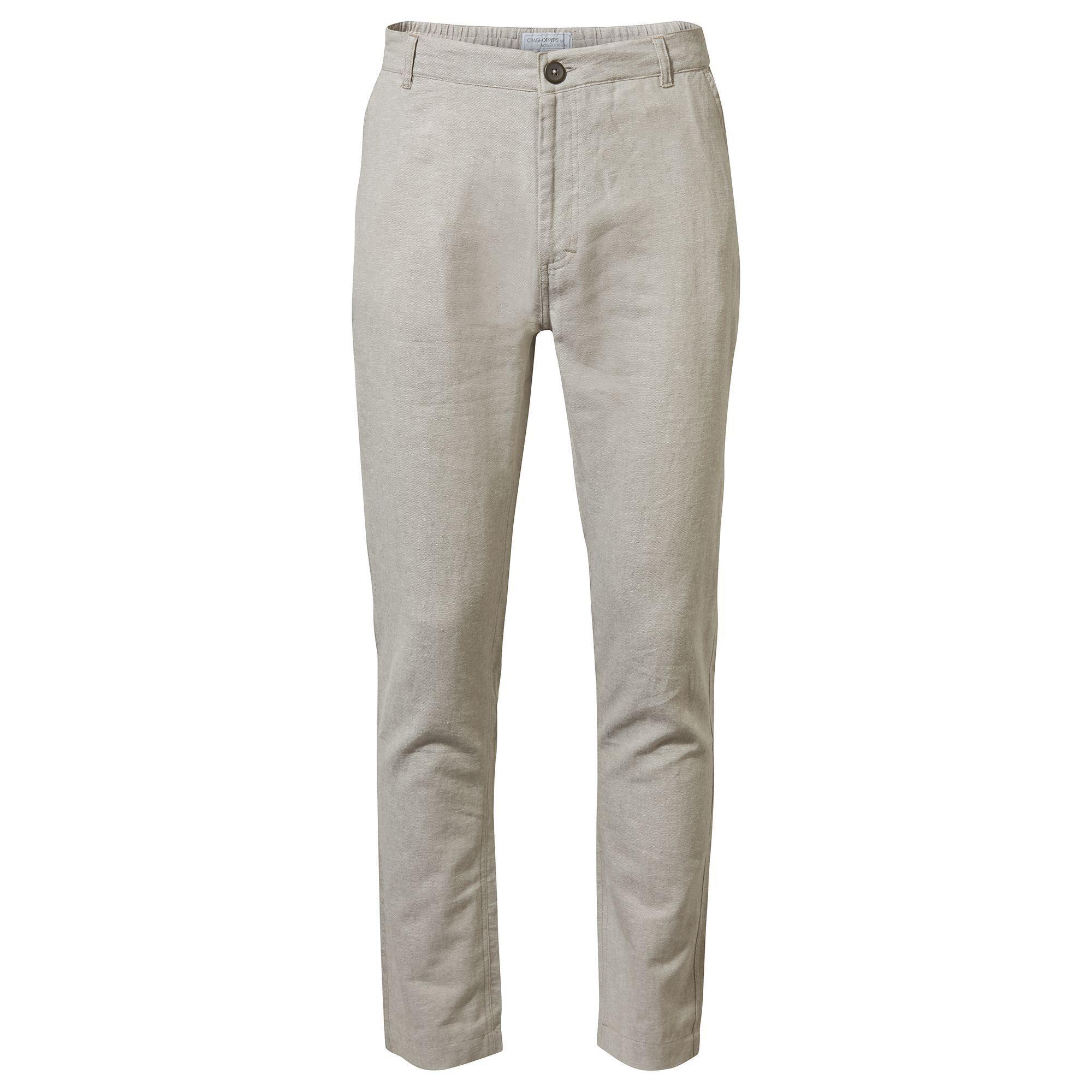 Craghoppers Mens Kier Sleek Trousers (30S) (Parchment White Marl)