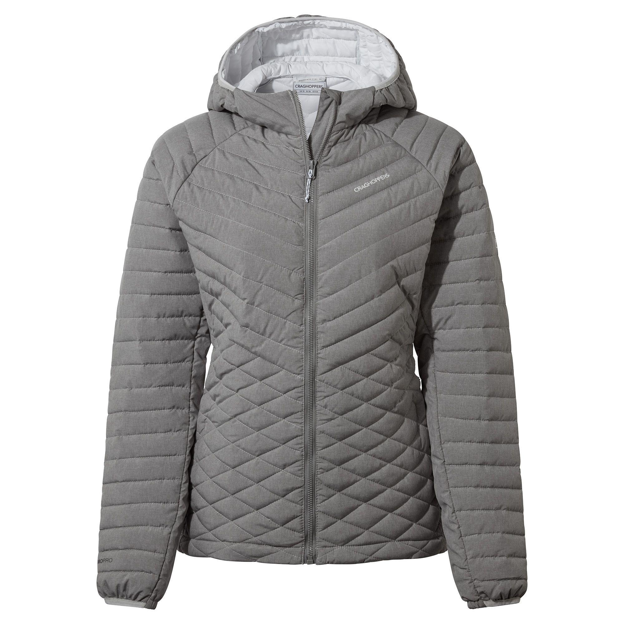 Craghoppers Womens/Ladies Expolite Hooded Jacket (8 UK) (Soft Grey Marl)
