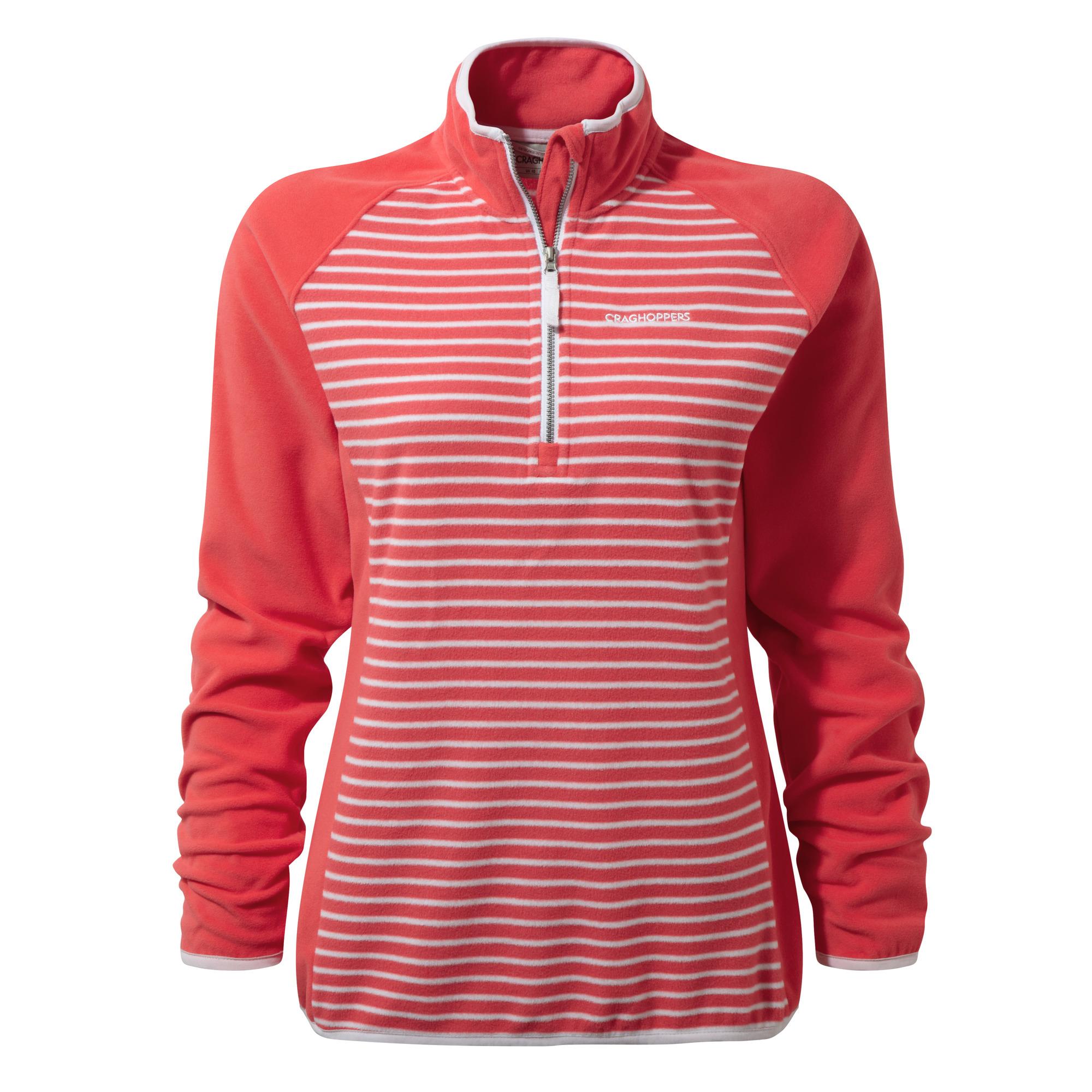 Craghoppers-Womens-Ladies-Tille-Half-Zip-Striped-Fleece-Top-CG262