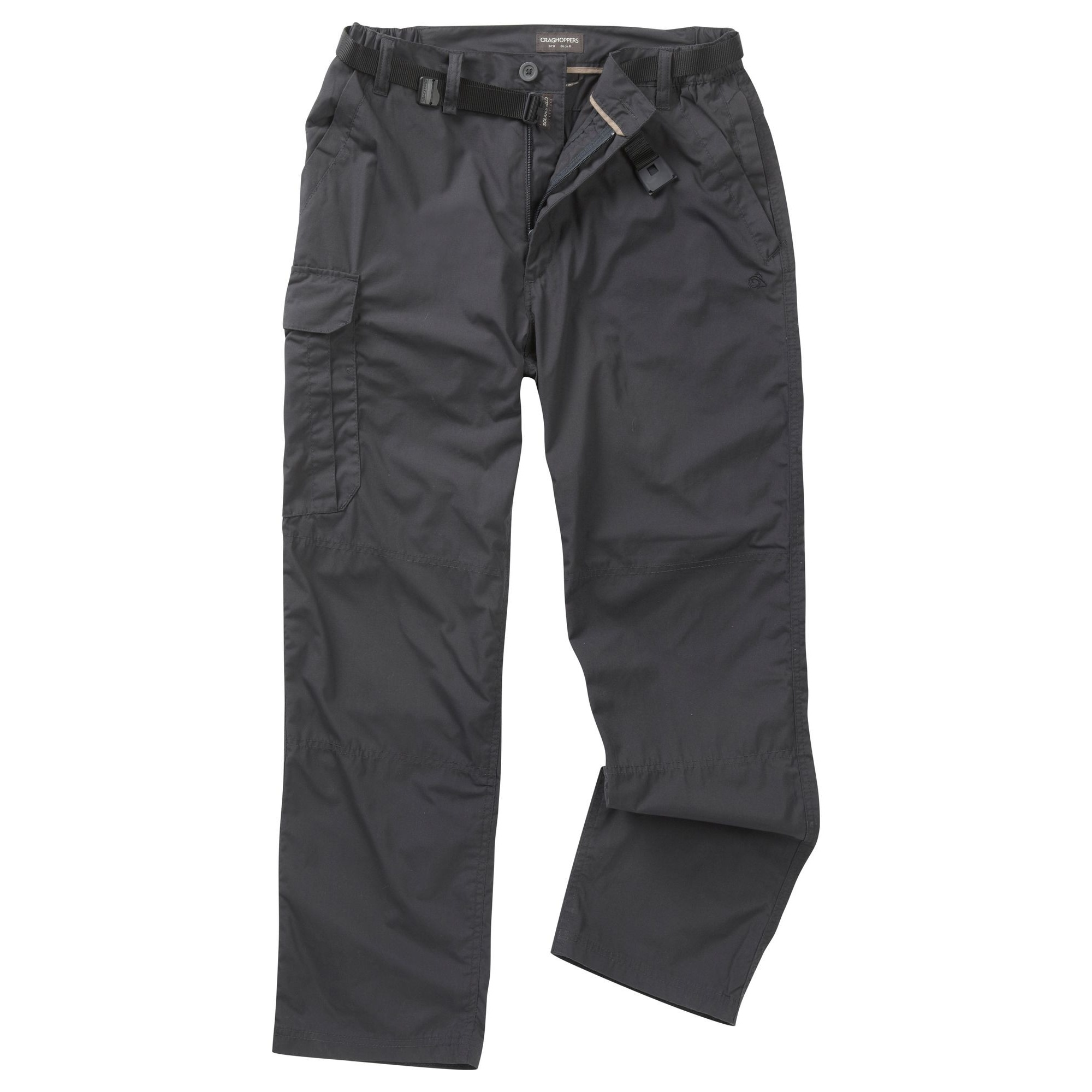 Craghoppers Outdoor Mens Kiwi Winter Lined Walking Trousers (30R) (Black Pepper)
