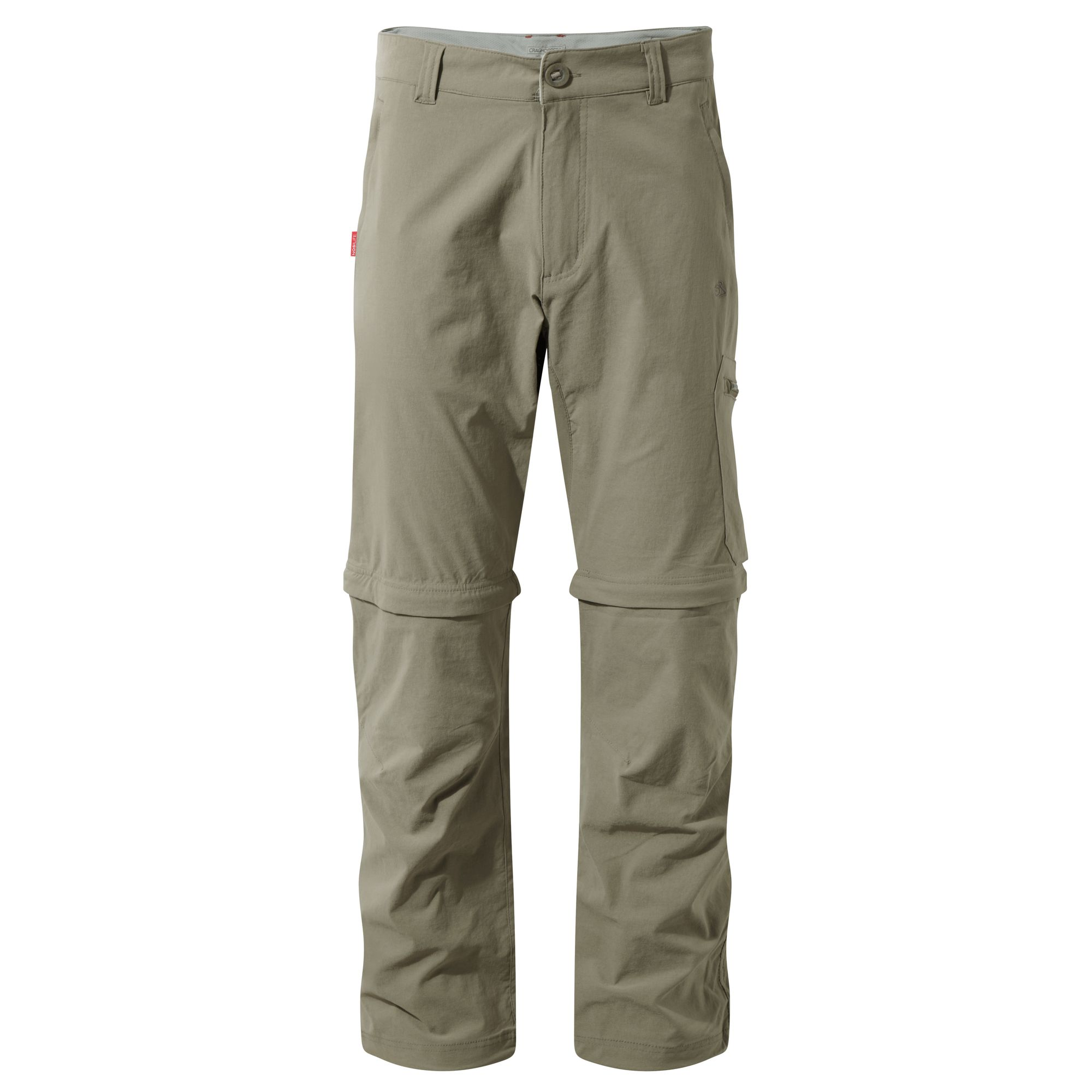 Craghoppers NosiLife Mens Convertible Insect Repellent Trousers (30L) (Pebble)