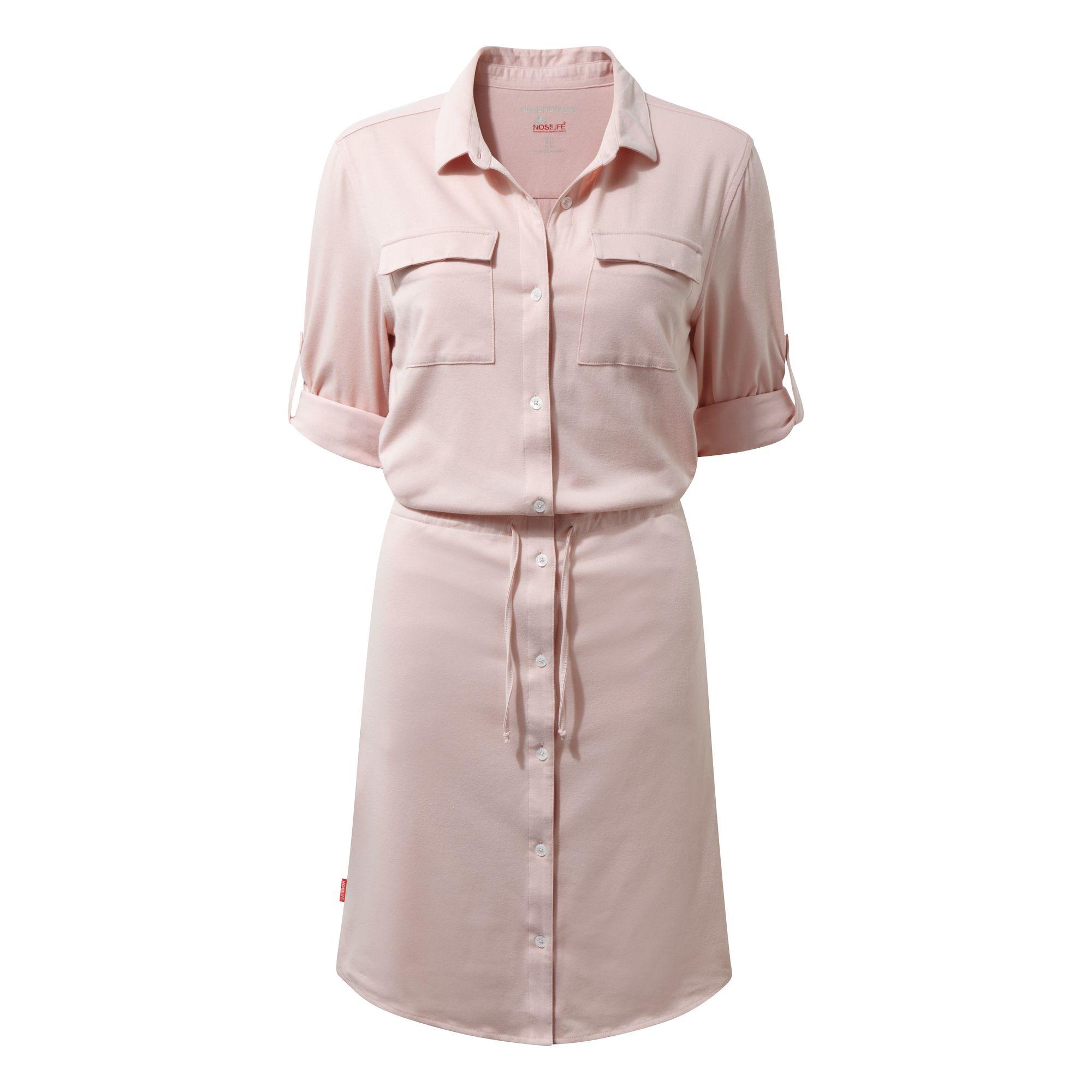Craghoppers Womens NosiLife Daku Dress (10) (Blossom Pink)