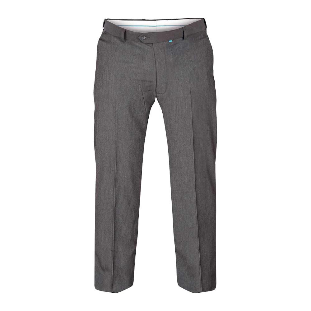 Duke Mens Kingsize Supreme D555 Stretch Dress Trousers (50L) (Charcoal)