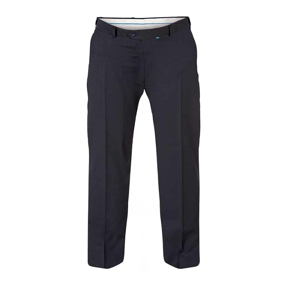 Duke Mens Kingsize Supreme D555 Stretch Dress Trousers (46L) (Navy)