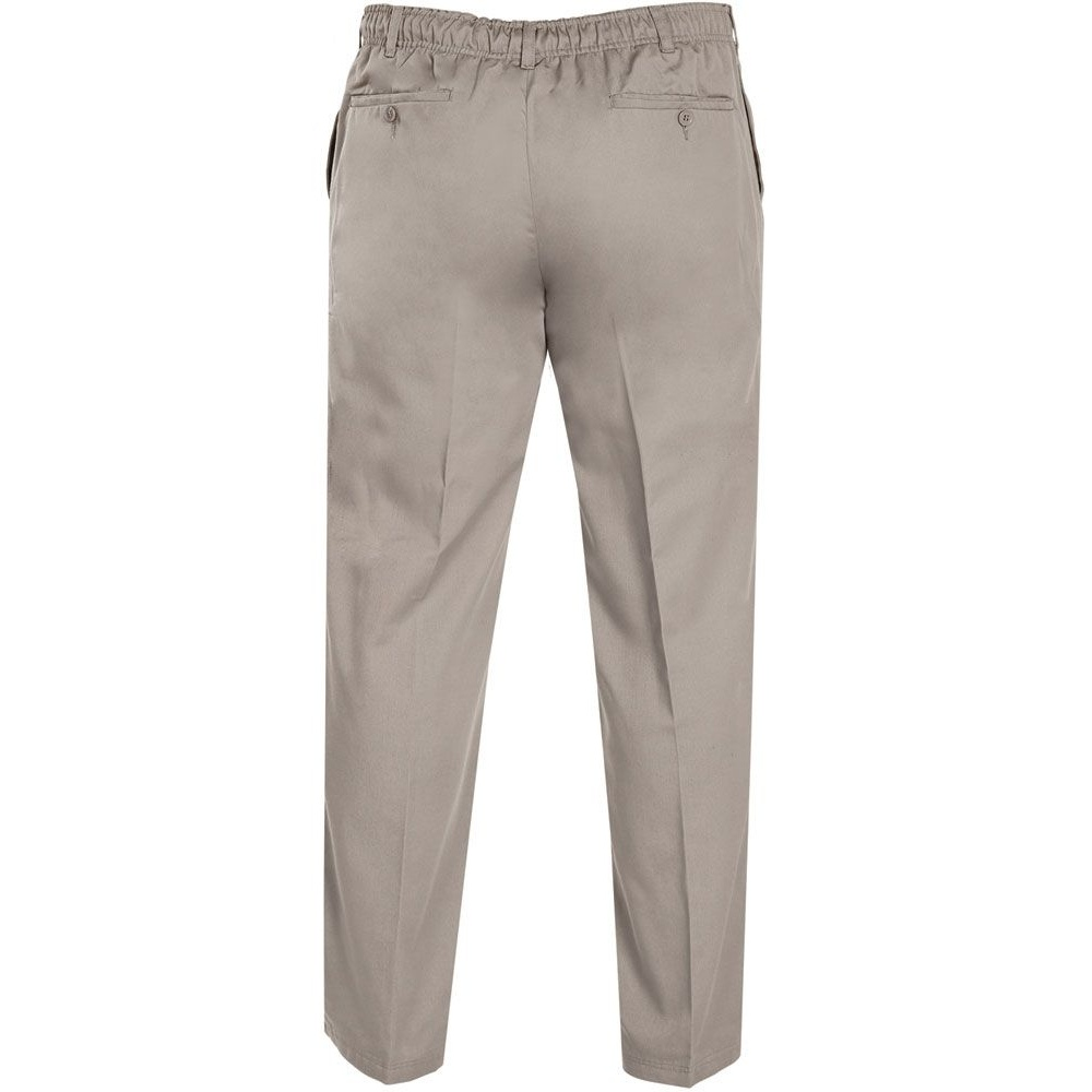 Duke Mens Kingsize Basilio D555 Full Elastic Waist Rugby Trousers (46L) (Black)