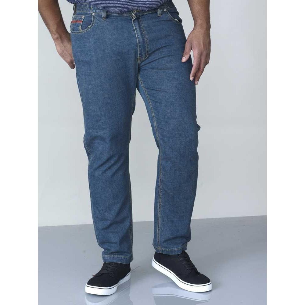 Duke-London-Mens-Kingsize-Bailey-Elasticated-Waist-Jeans-DC138 thumbnail 4
