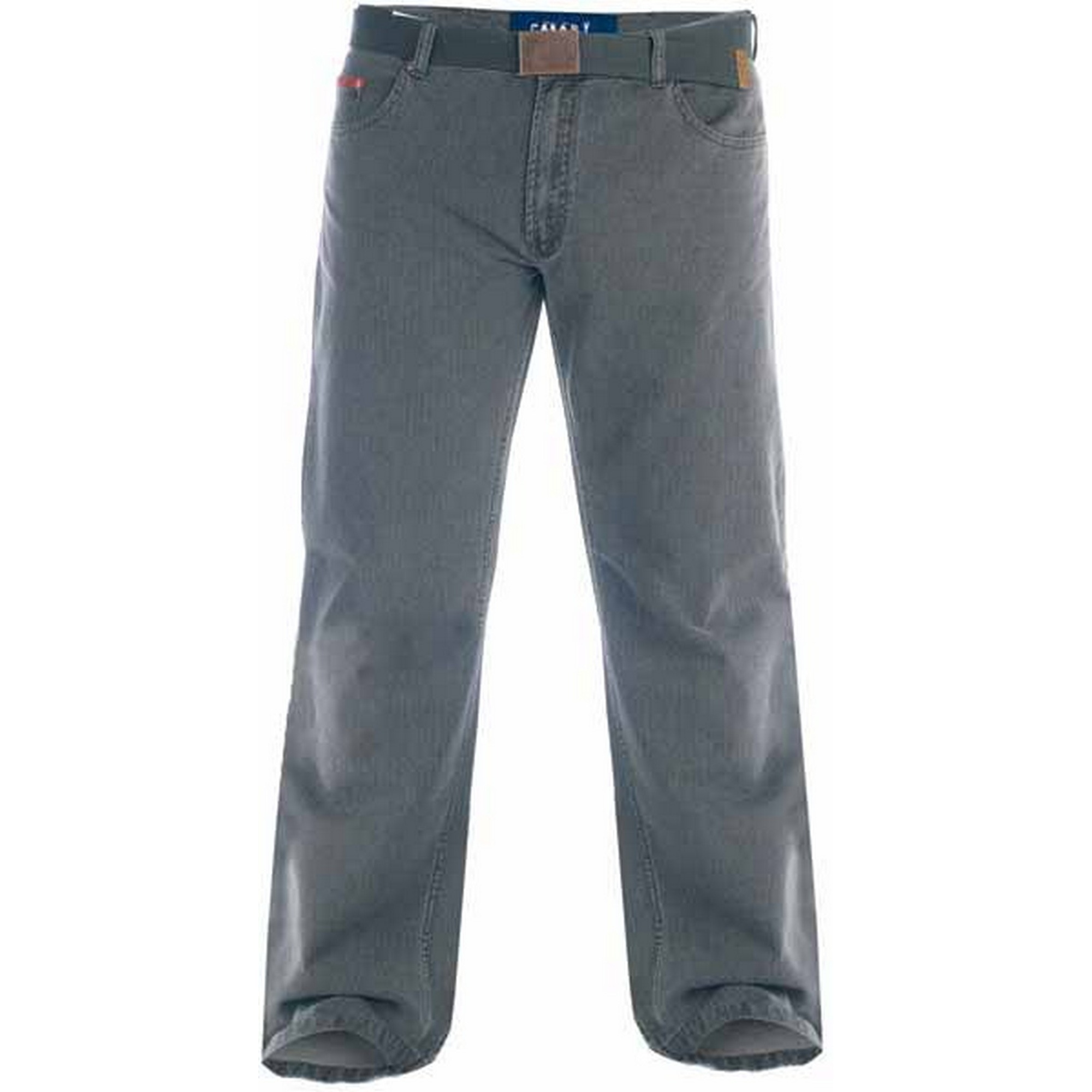 Duke London Mens Kingsize Canary Bedford Cord Trousers With Belt (58S) (Charcoal)