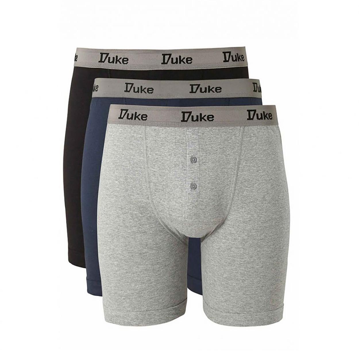 Duke-London-Mens-Driver-Kingsize-Cotton-Boxer-Shorts-Pack-Of-3-DC145