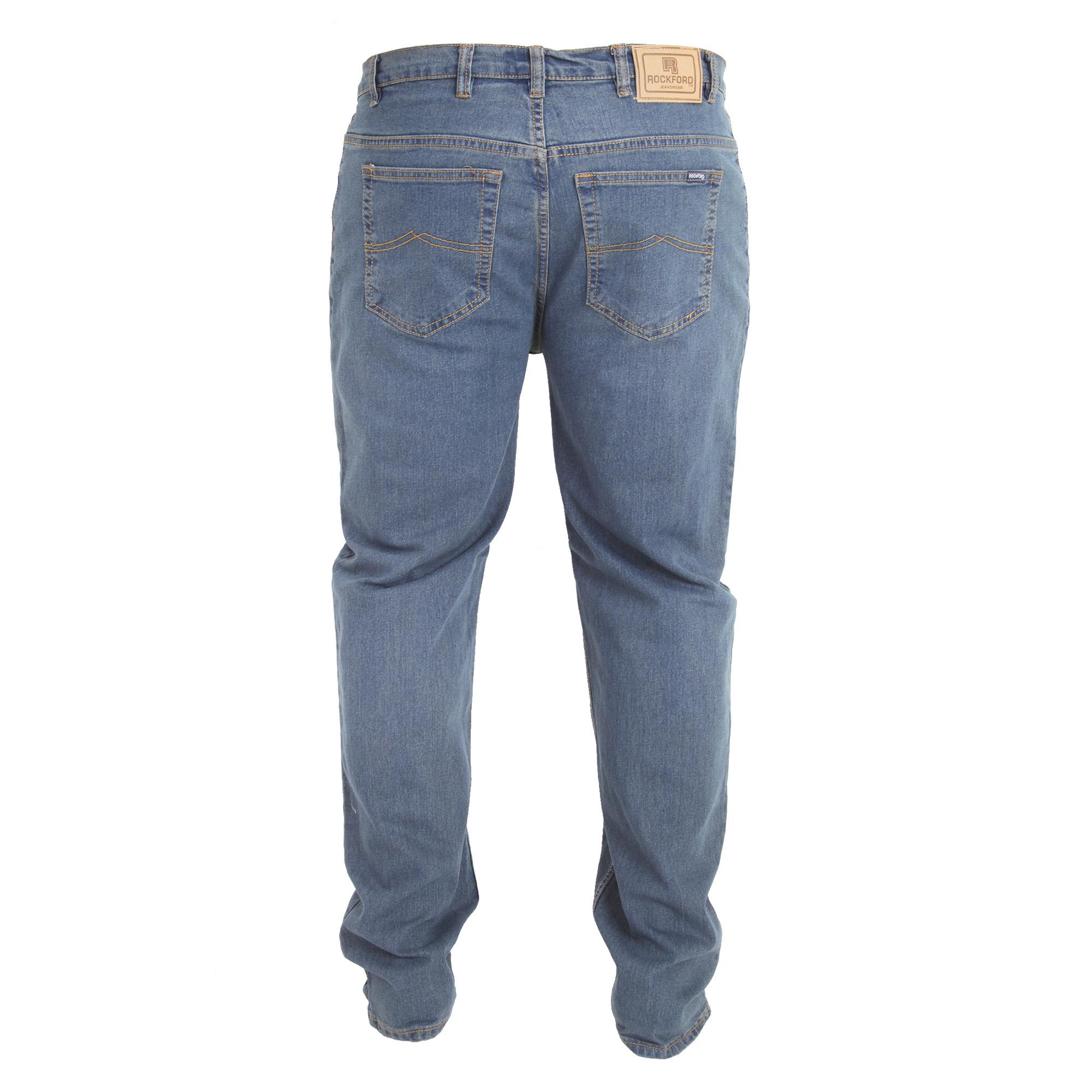 Duke-Mens-Rockford-Carlos-Kingsize-Stretch-Jeans-DC162 thumbnail 7