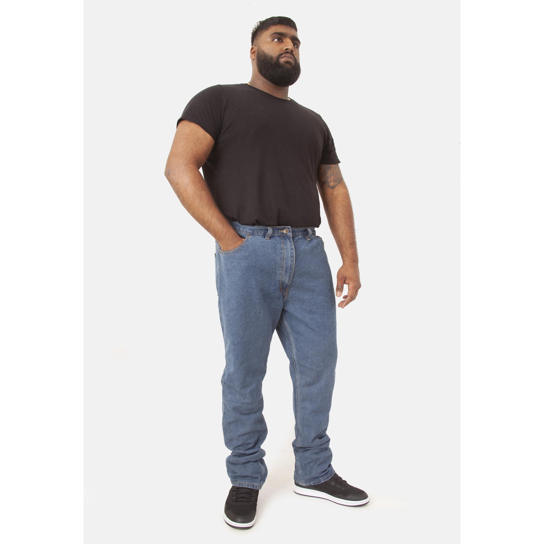 Duke-Mens-Rockford-Carlos-Kingsize-Stretch-Jeans-DC162 thumbnail 8