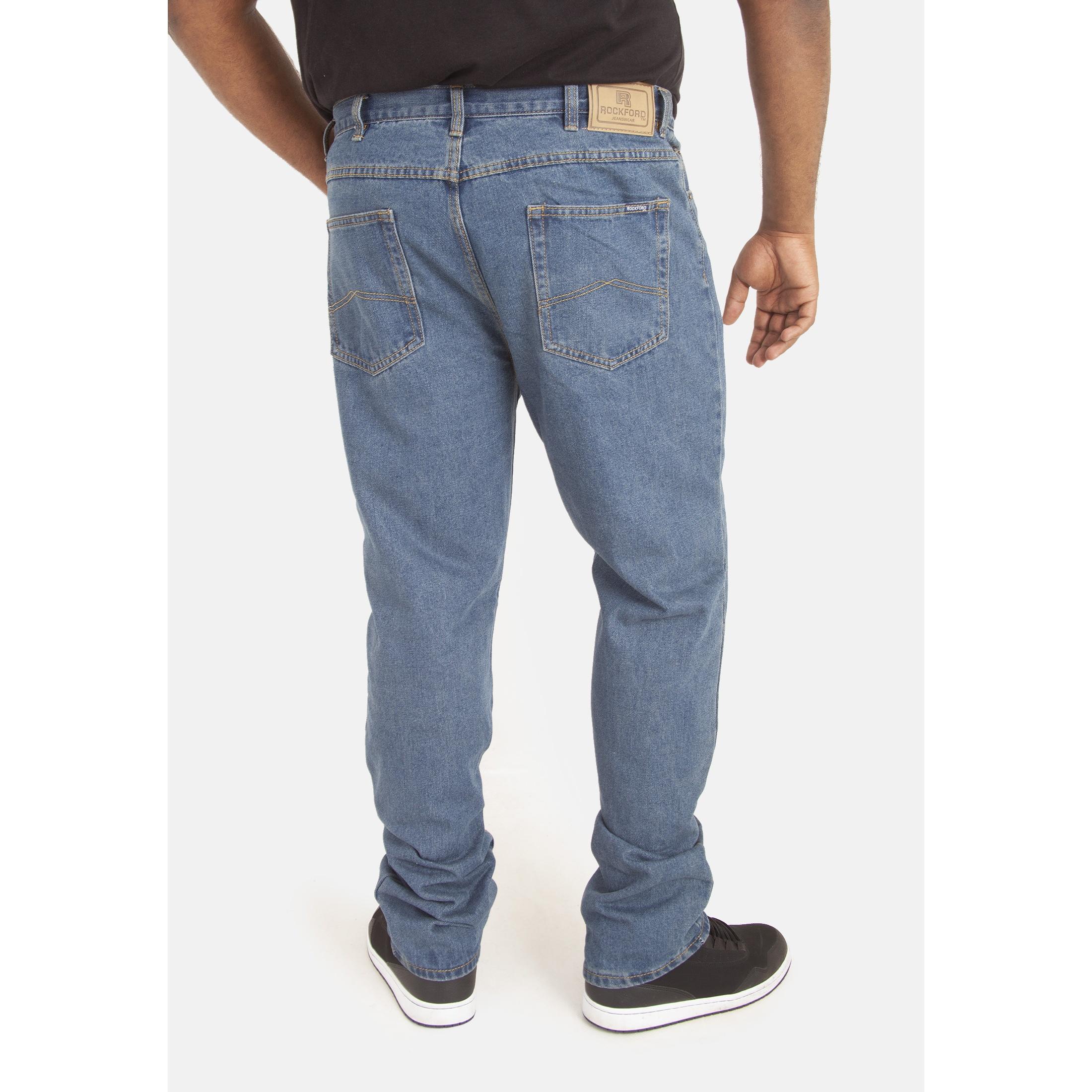 Duke-Mens-Rockford-Carlos-Kingsize-Stretch-Jeans-DC162 thumbnail 9