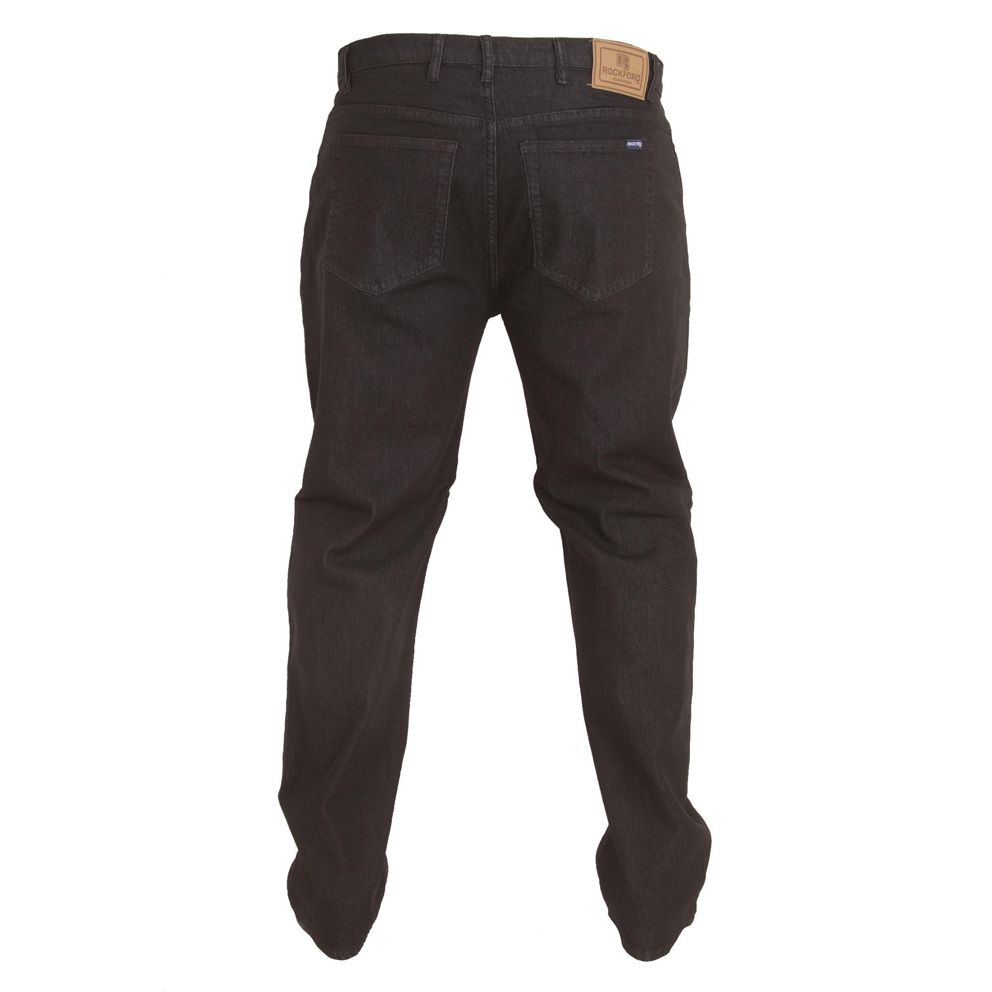 Duke-Mens-Rockford-Carlos-Kingsize-Stretch-Jeans-DC162 thumbnail 3