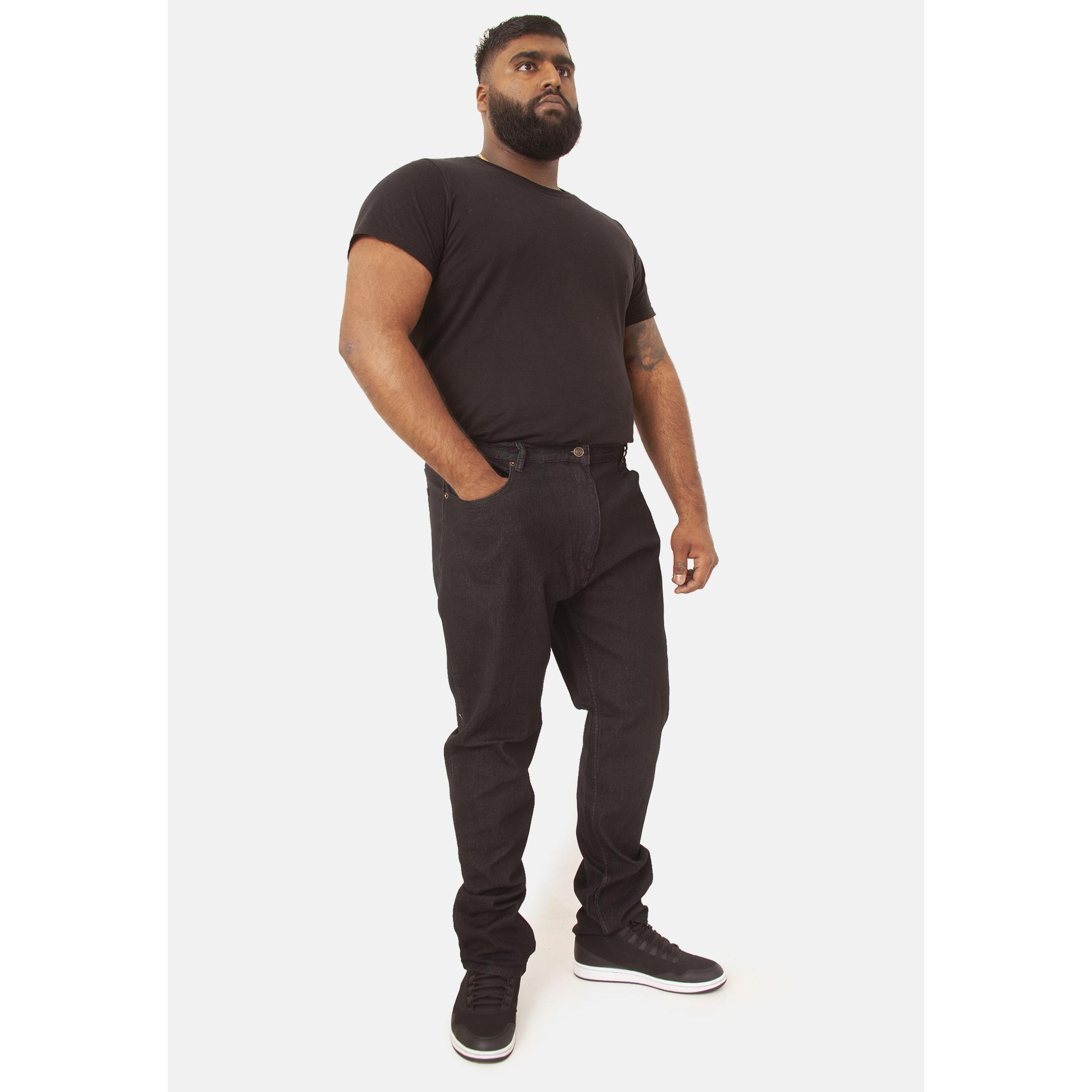 Duke-Mens-Rockford-Carlos-Kingsize-Stretch-Jeans-DC162 thumbnail 4