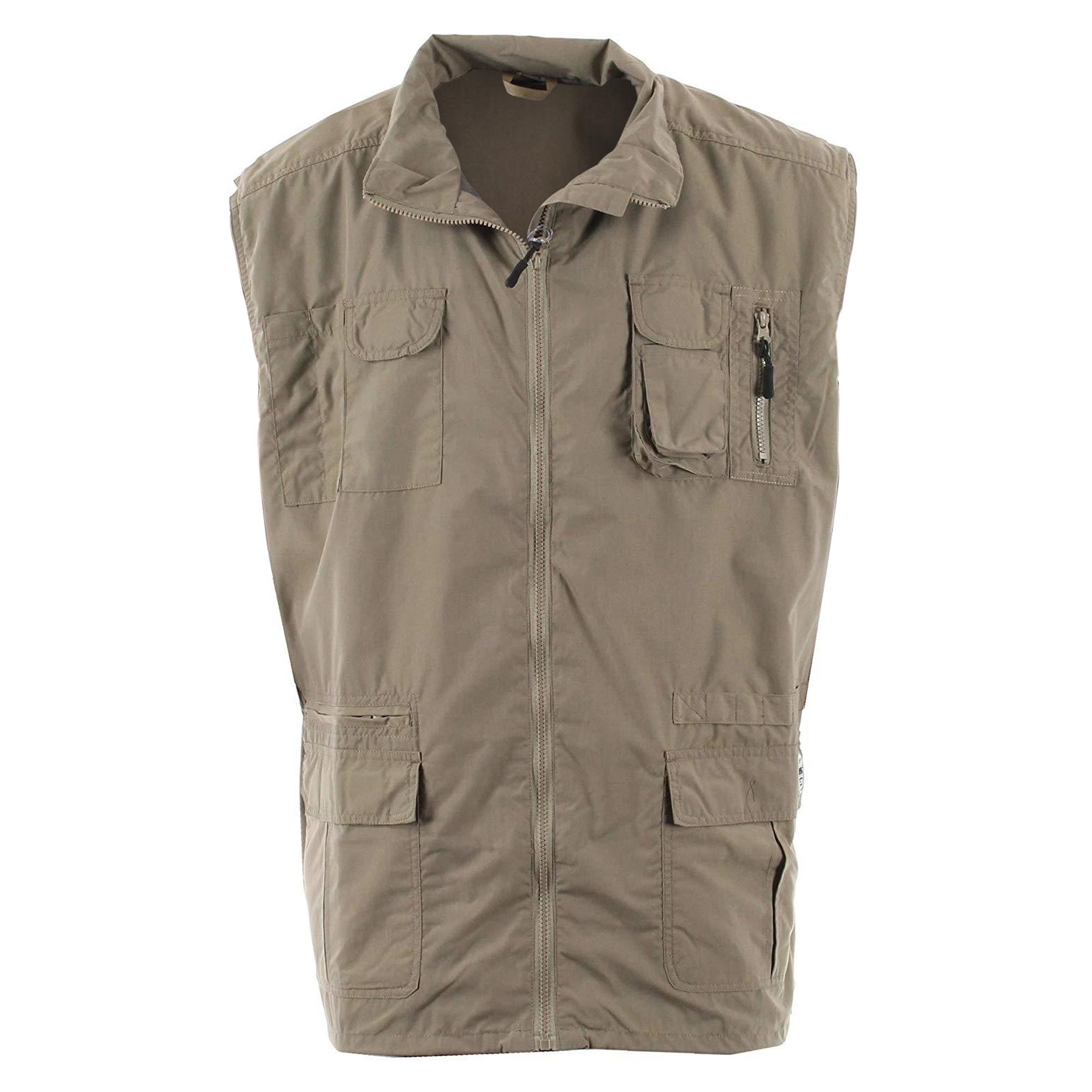 Duke Mens Enzo Kingsize Multi Pocket Hunting Waistcoat (5XL) (Walnut)