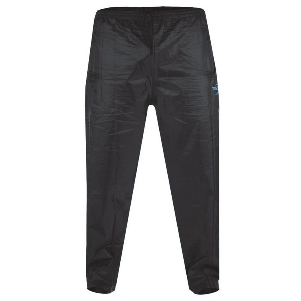 Duke Mens Elba Kingsize D555 Packaway Rain Over Trousers (7XL) (Black)