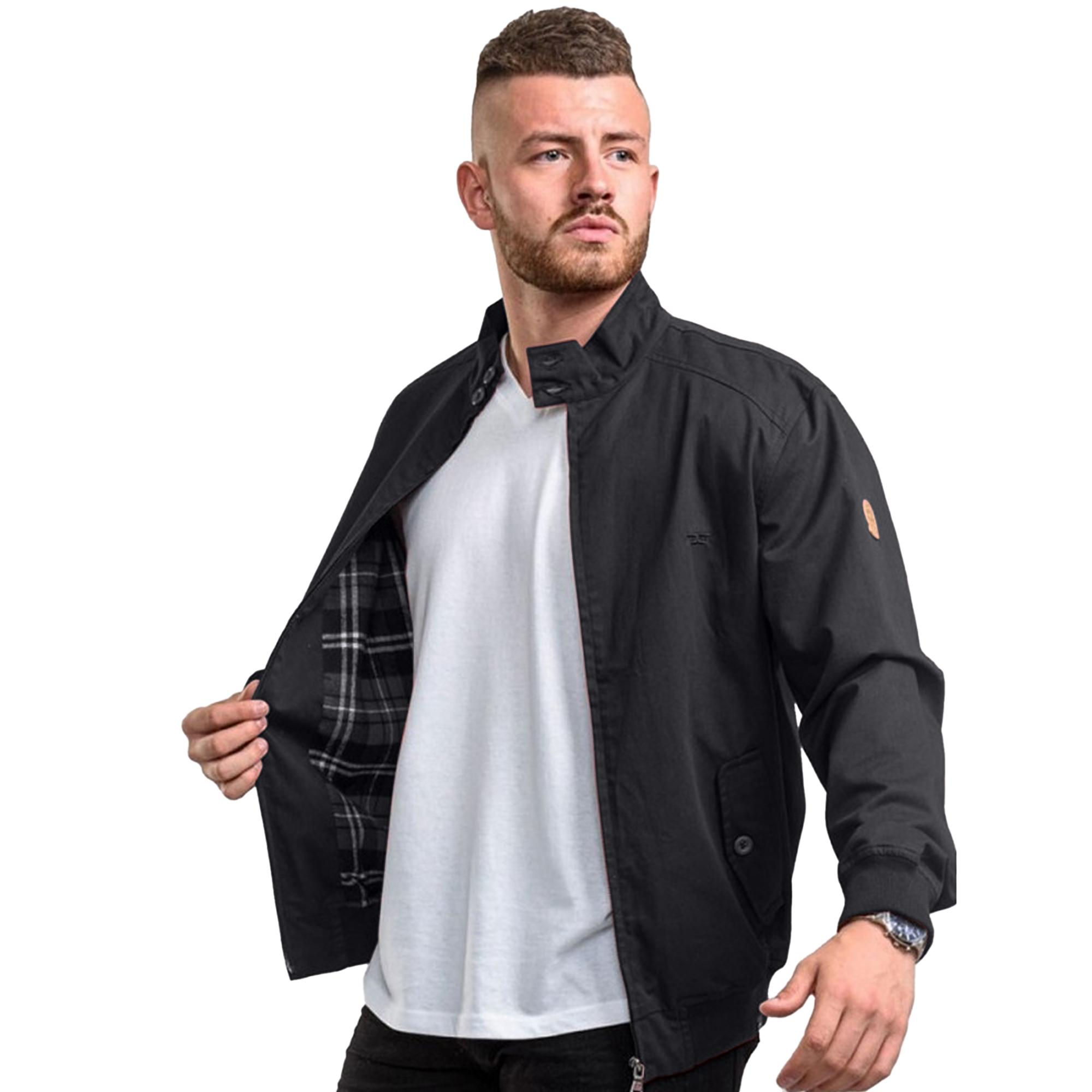 Duke Mens Windsor Cotton Harrington Jacket (L) (Black)