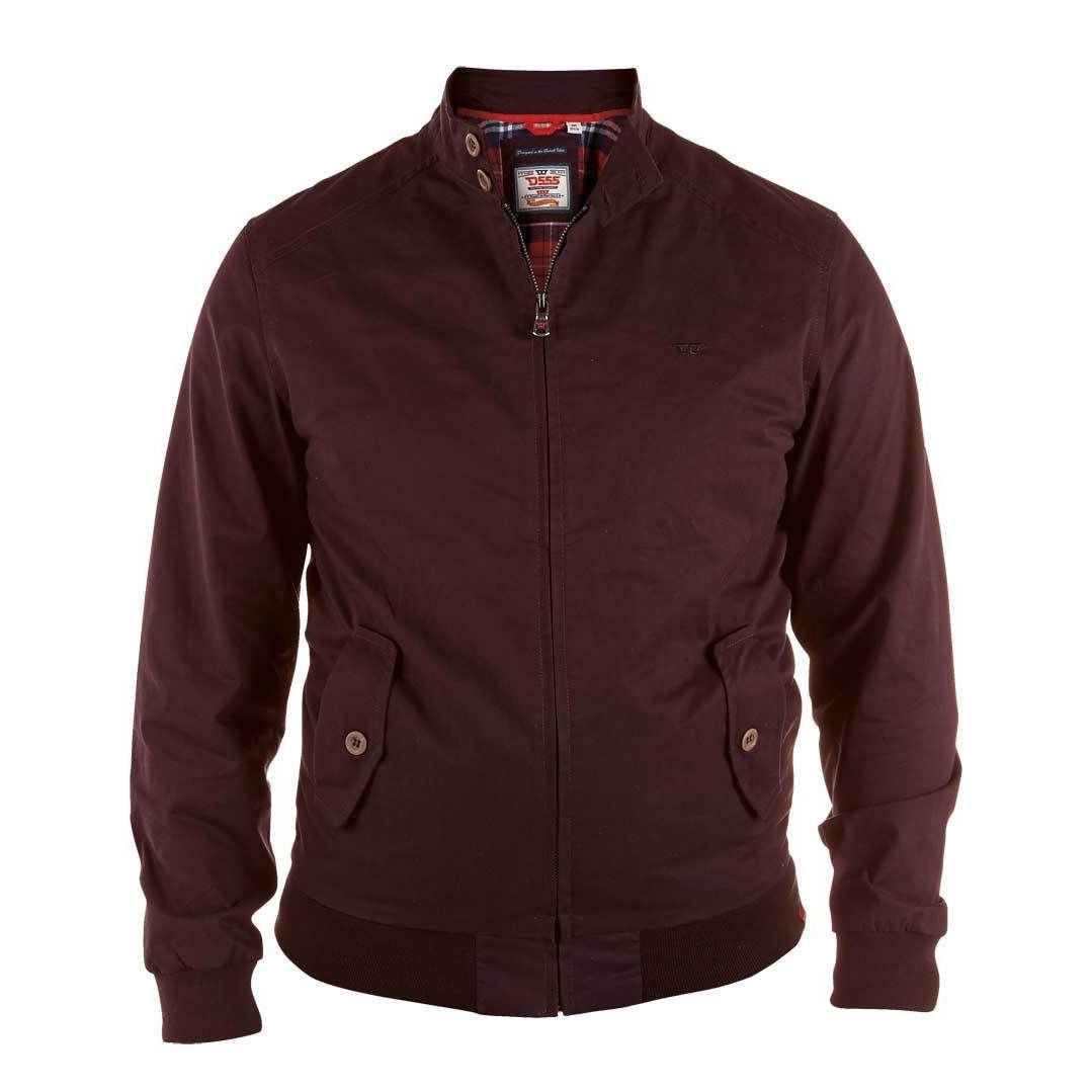 Duke Mens Harrington Cotton Jacket (XL) (Burgundy)