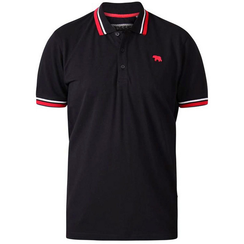 Duke Mens Allante D555 Double Tipped Pique Polo Shirt (XXL) (Black)