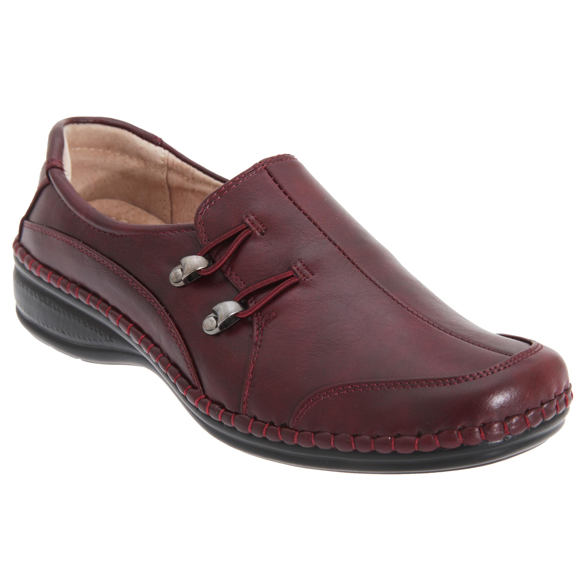 Boulevard Womens/Ladies Elasticated Loop Trim Casual Shoes (DF1010)