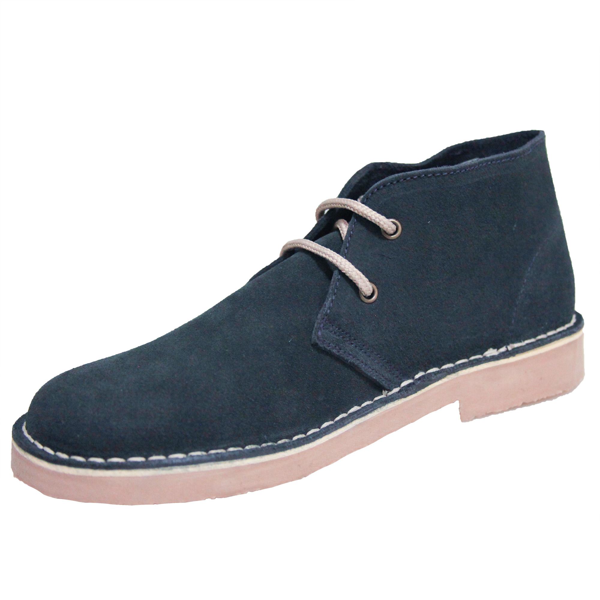 Roamers Mens Real Suede Unlined Desert Boots (6 UK) (Bordeaux)
