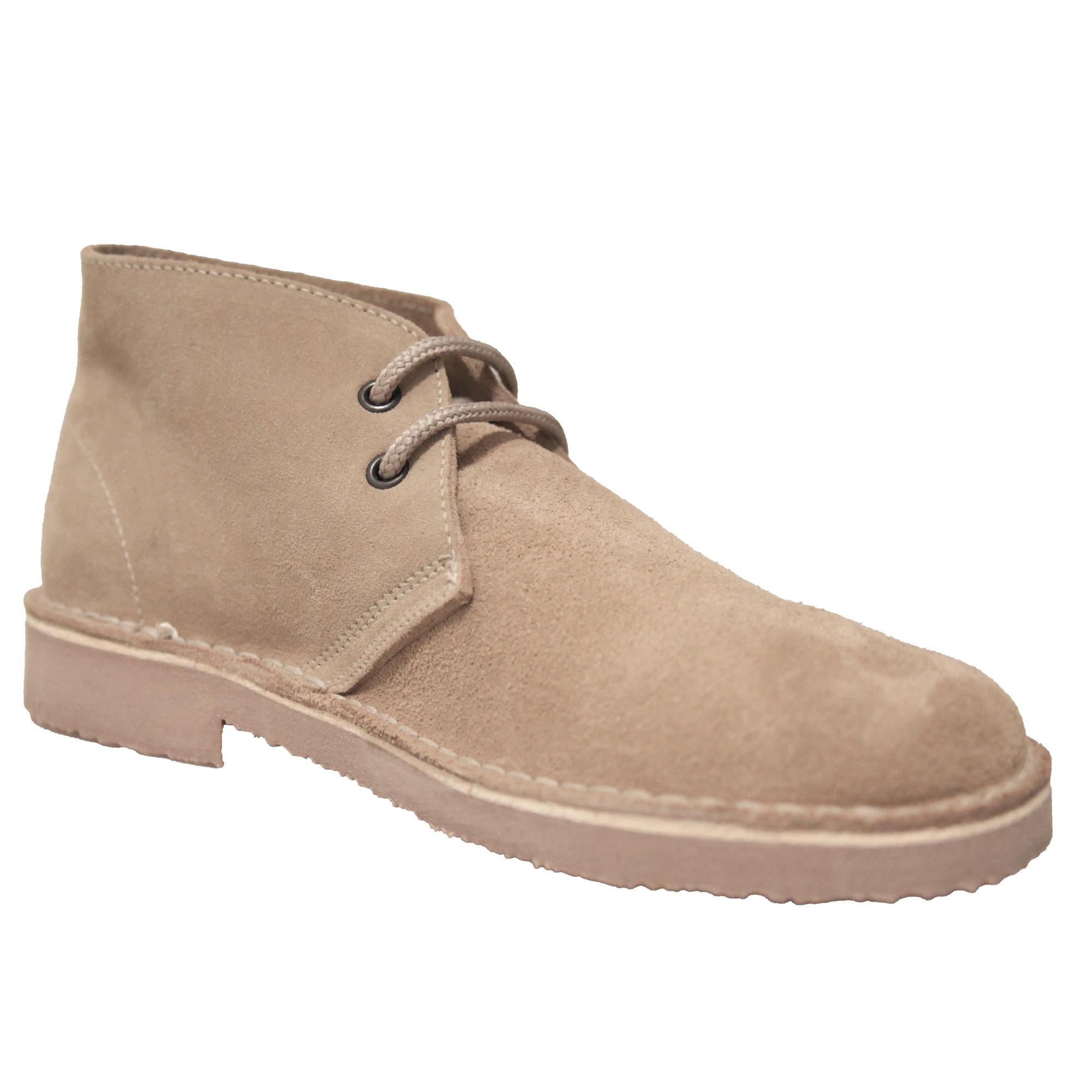 Roamers Mens Real Suede Unlined Desert Boots (3 UK) (Black)
