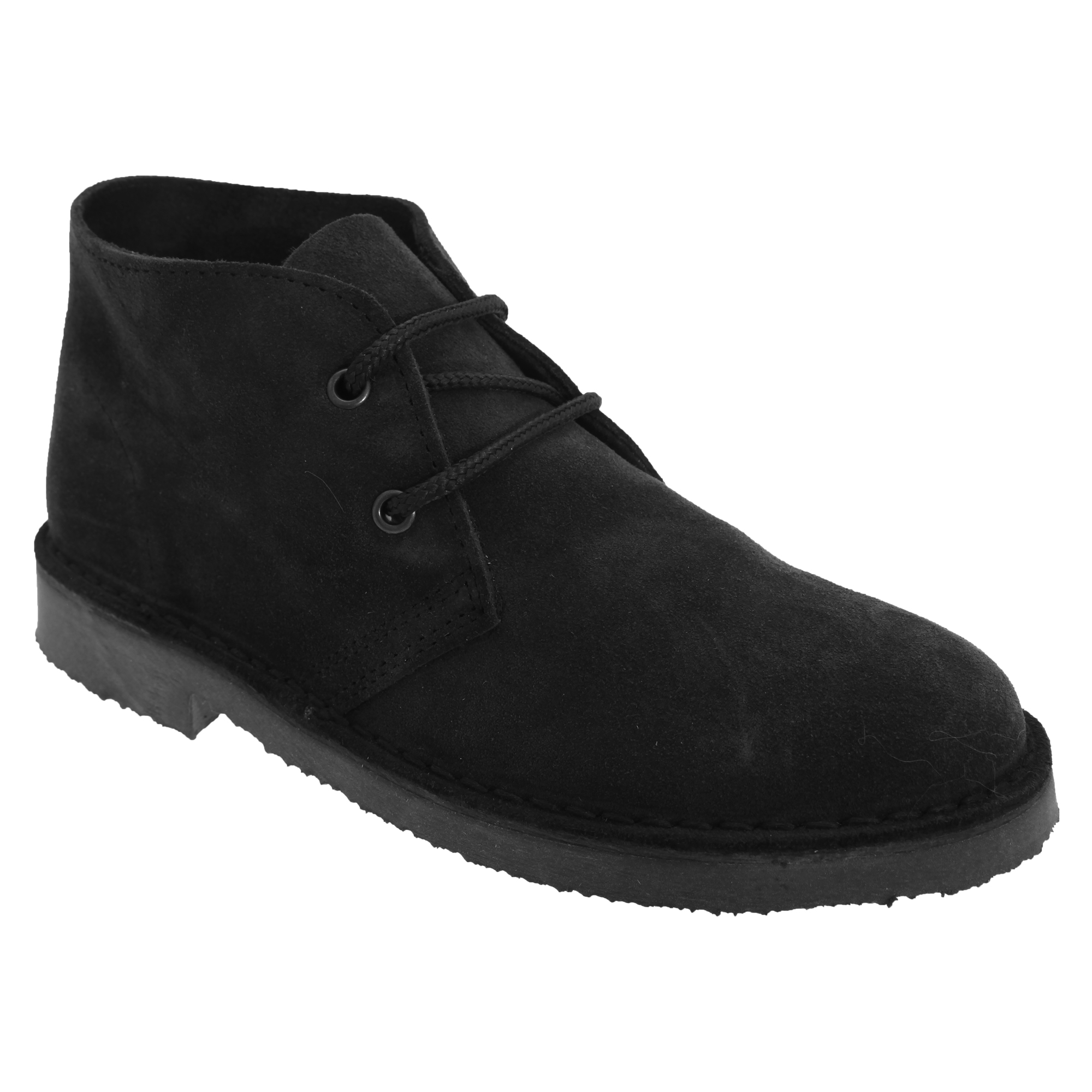 Roamers Adults Unisex Real Suede Unlined Desert Boots (15 UK) (Black)