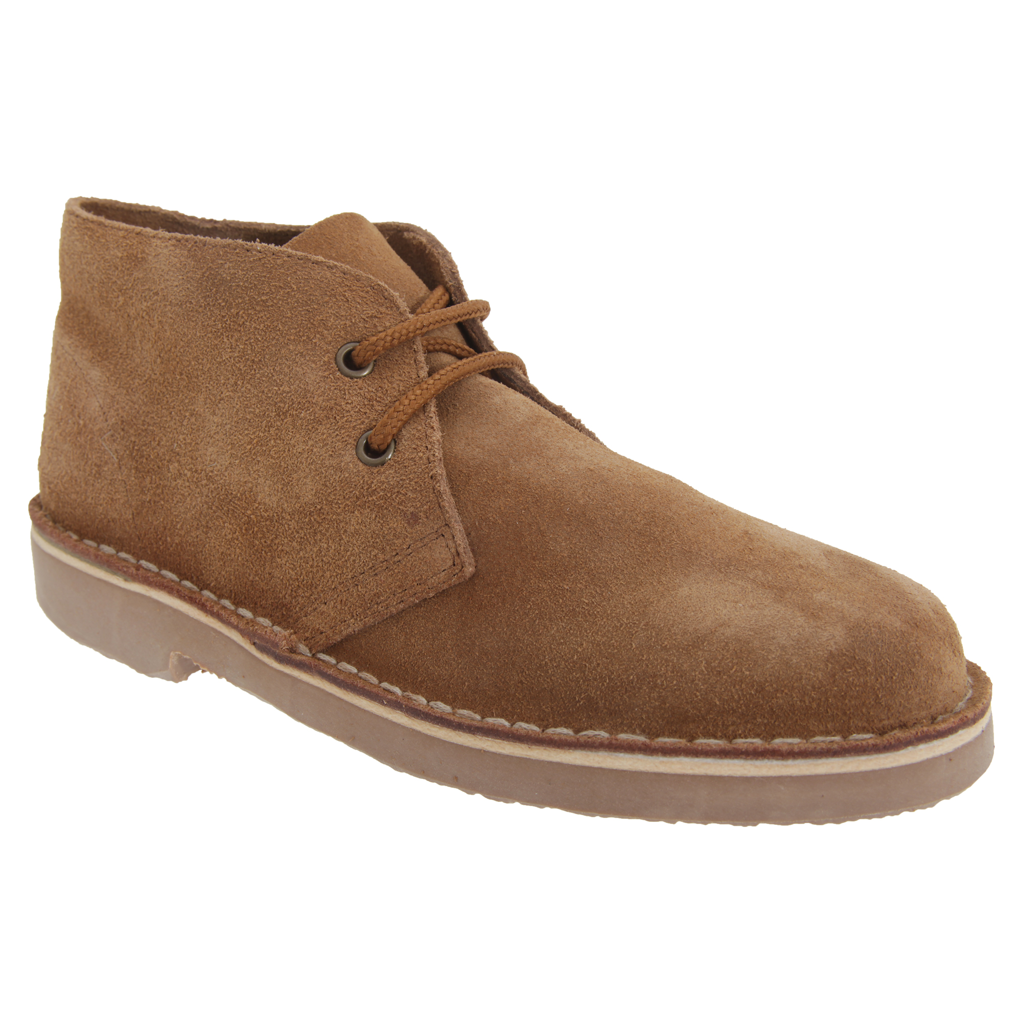 Roamers Adults Unisex Real Suede Unlined Desert Boots (8 UK) (Sand)