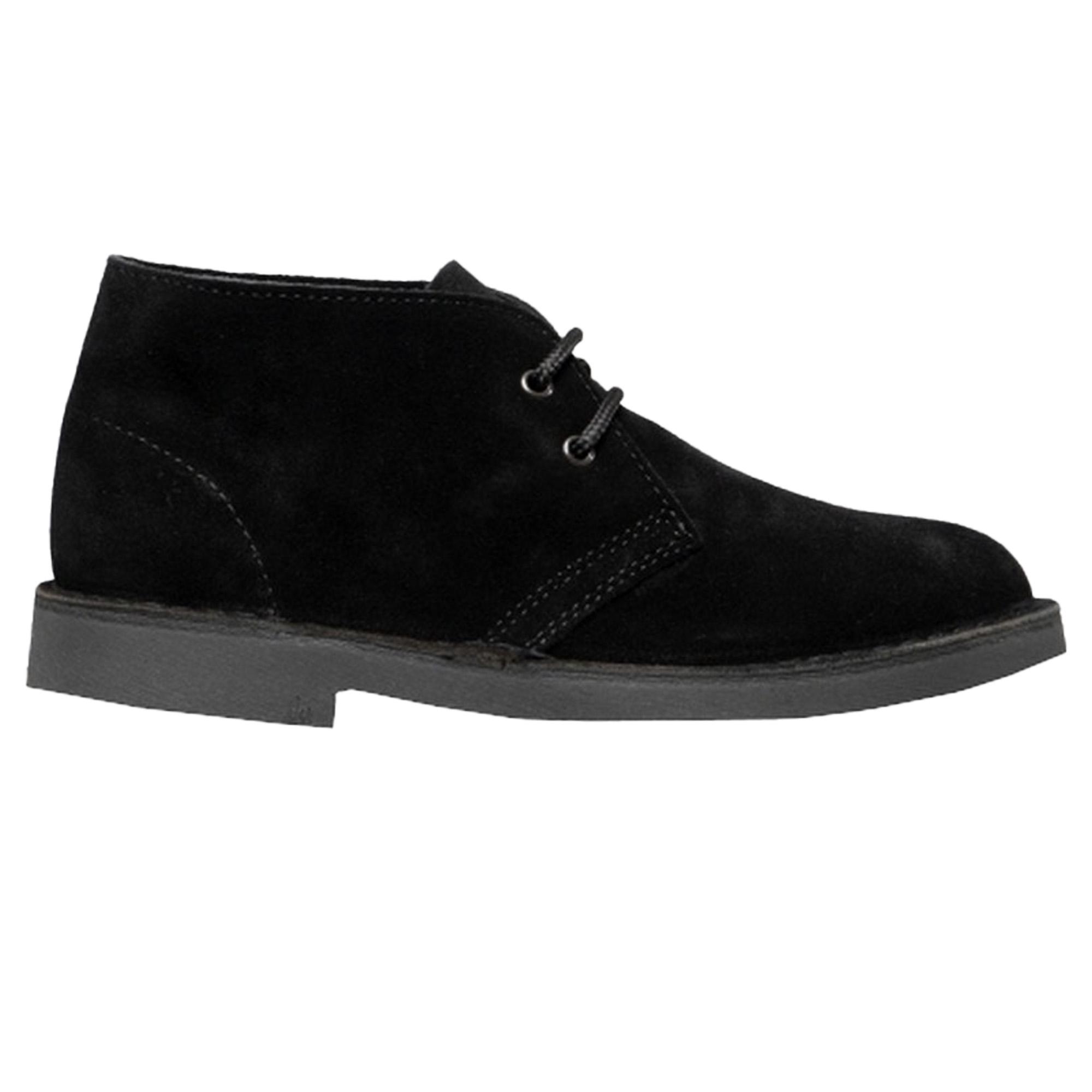 Roamers Adults Unisex Real Suede Unlined Desert Boots (11 UK) (Dark Brown)