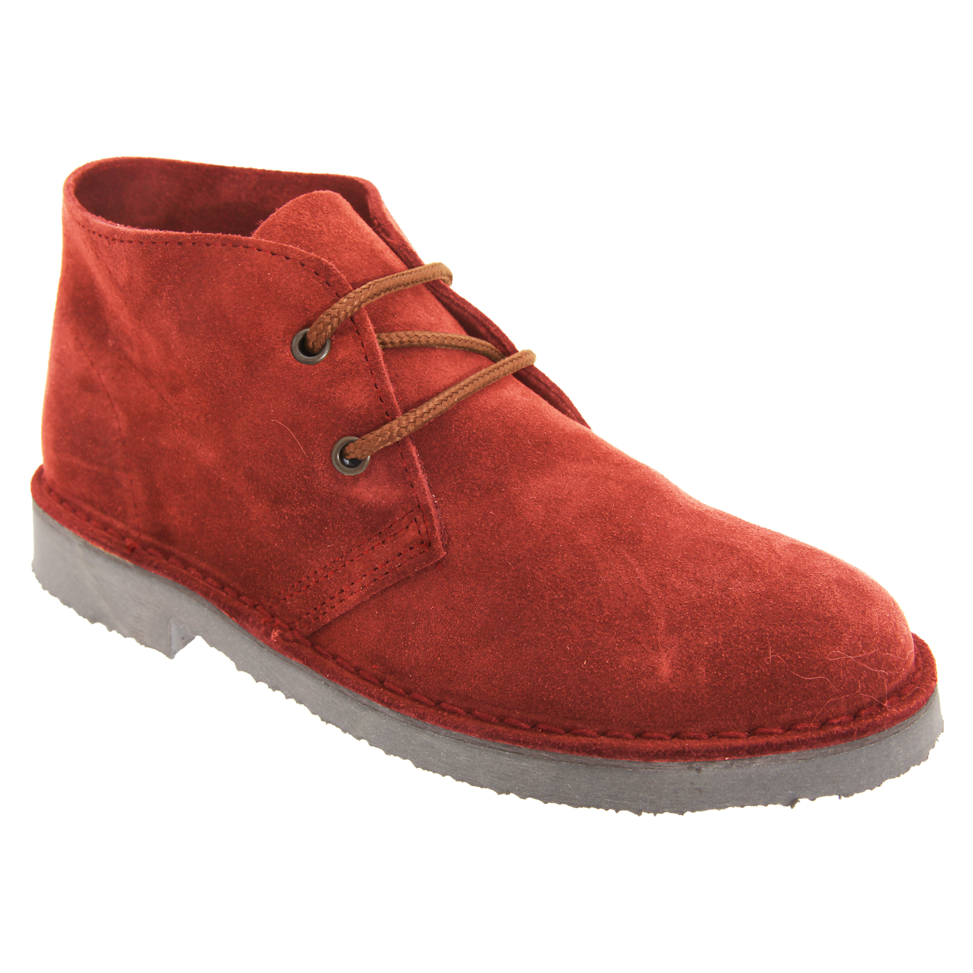 Roamers Adults Unisex Real Suede Unlined Desert Boots (8 UK) (Red)