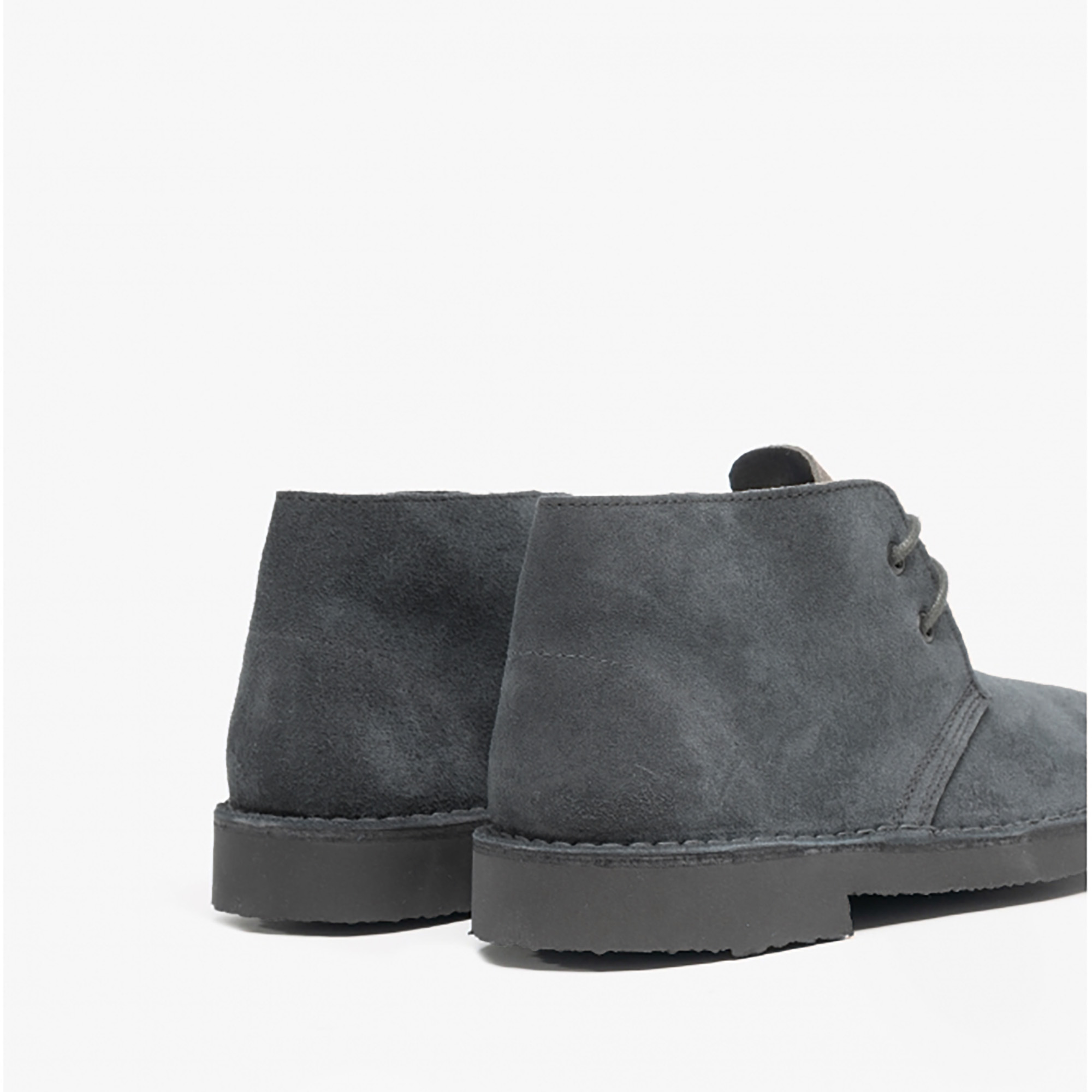 Roamers Adults Unisex Real Suede Unlined Desert Boots (10 UK) (Grey)